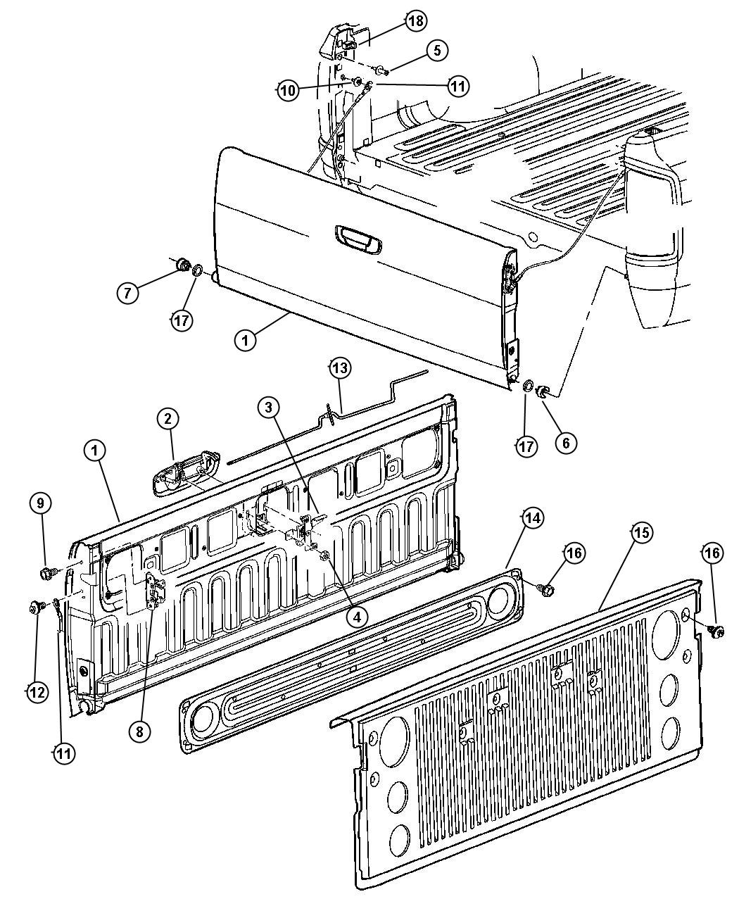 dodge ram 1500 tailgate part diagram  dodge  free engine image for user manual download