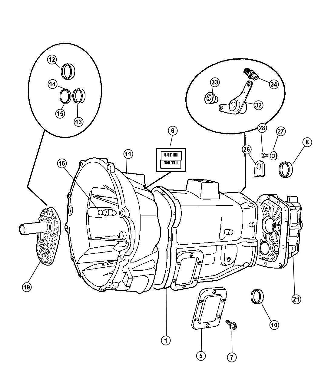 Case and Related Parts - 6 Speed [5600] (DEE). Diagram