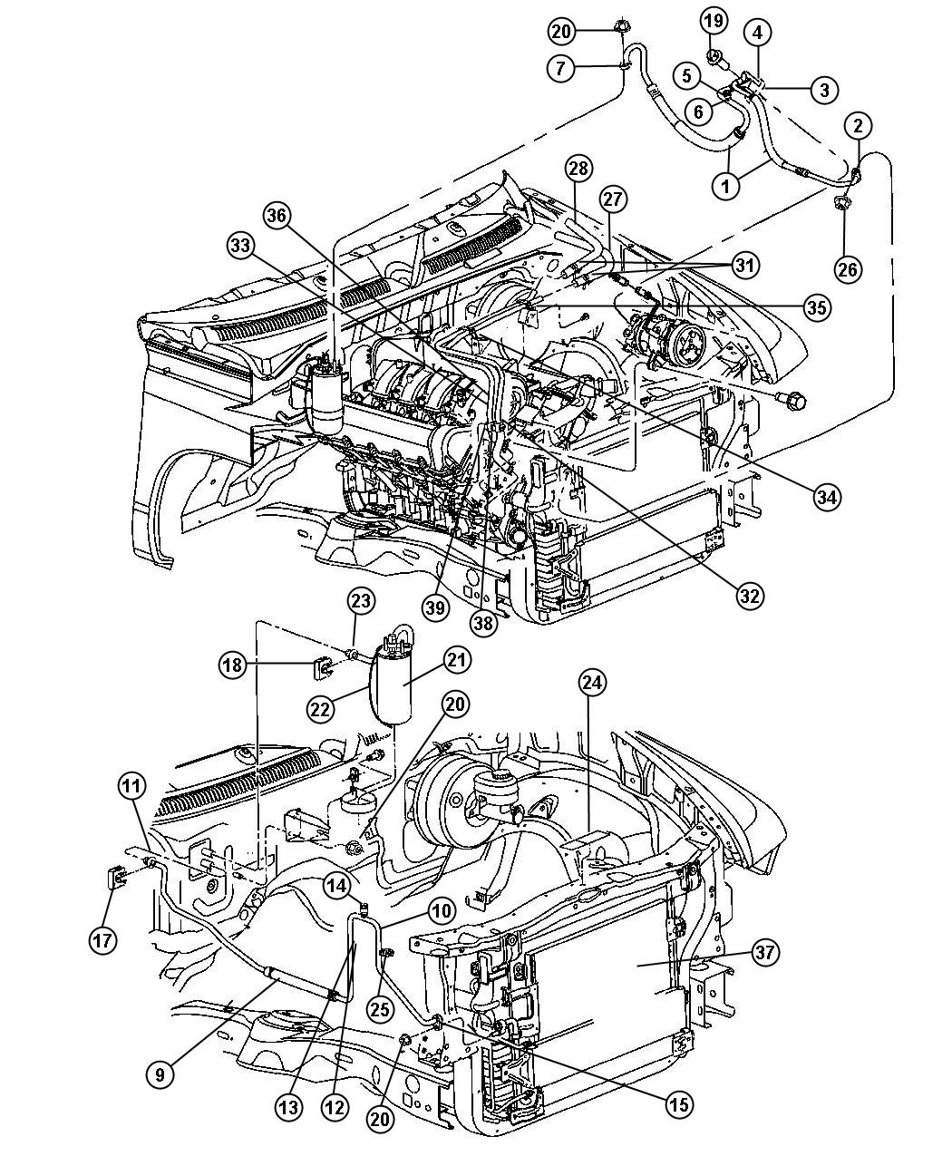 dodge dakota engine diagram new genuine mopar 5015544ac return tube / hose for dodge ... oo dodge dakota engine diagram #4