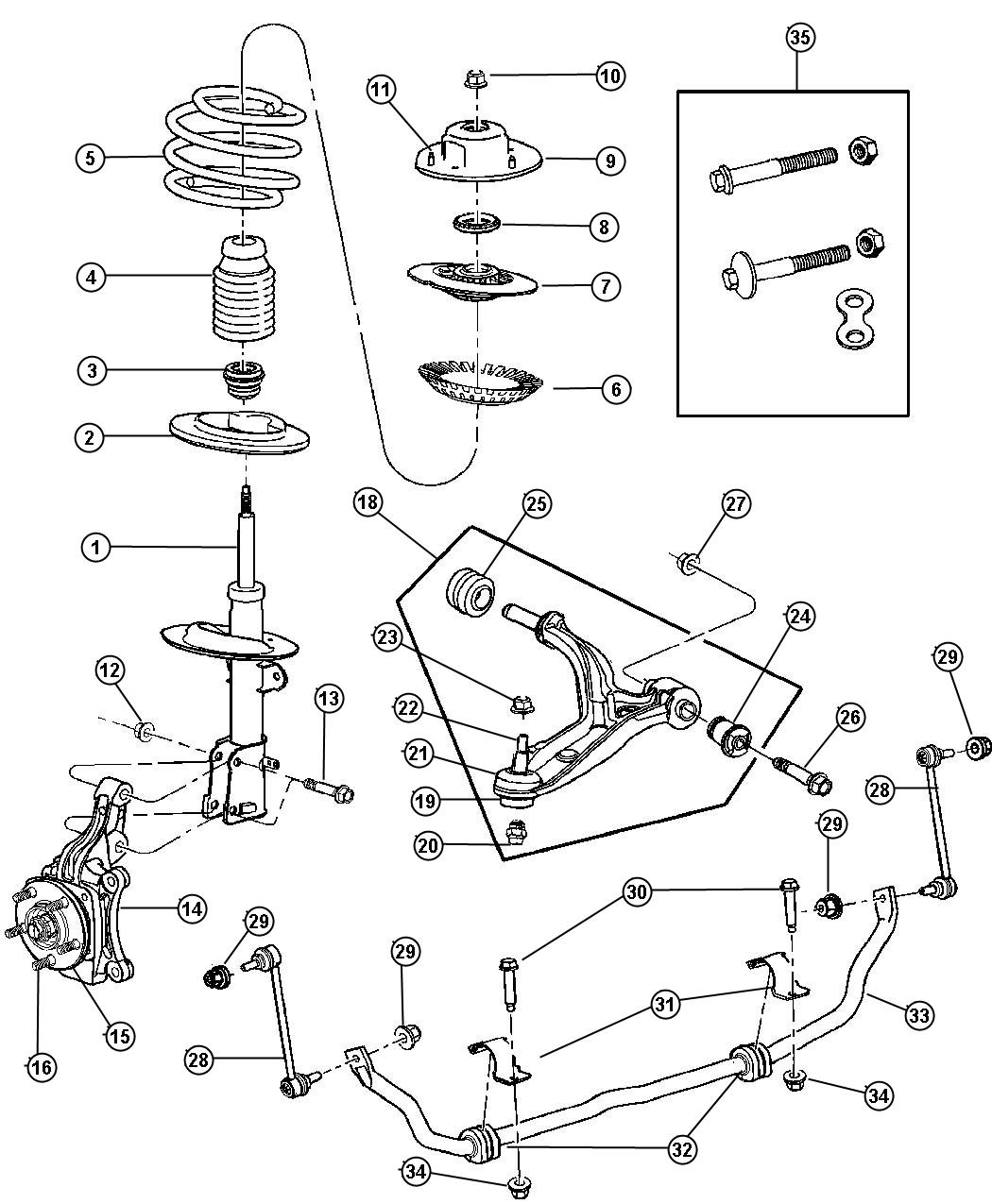 2001 dodge durango suspension diagram