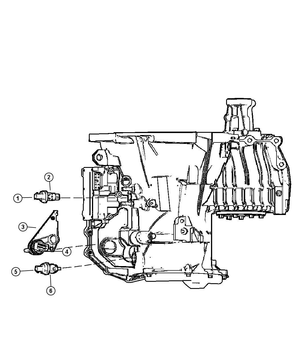 2004 Chrysler Town  U0026 Country Sensor  Transmission Range