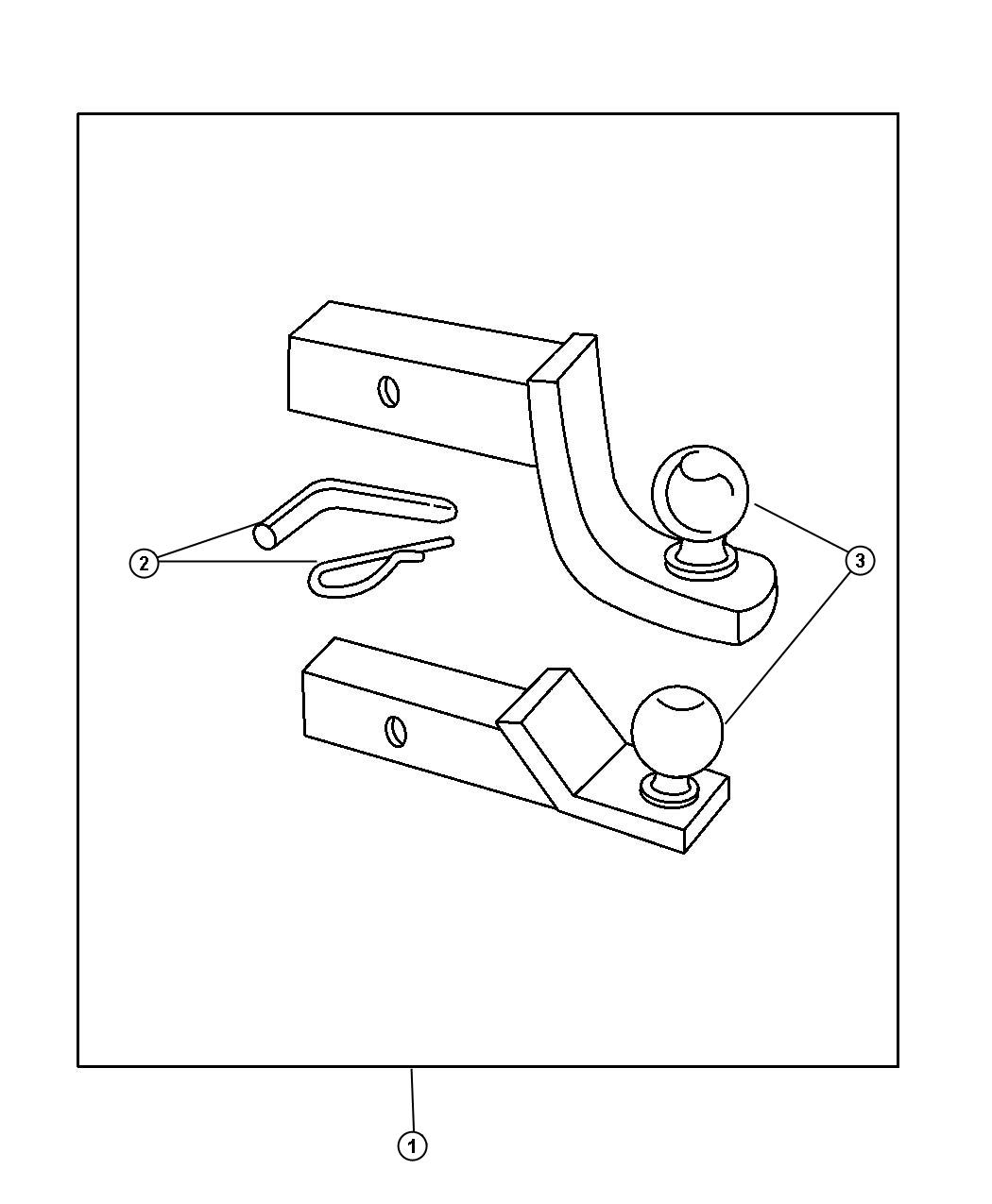 Diagram Adapter Kit - Ball Mount for your Dodge Dart