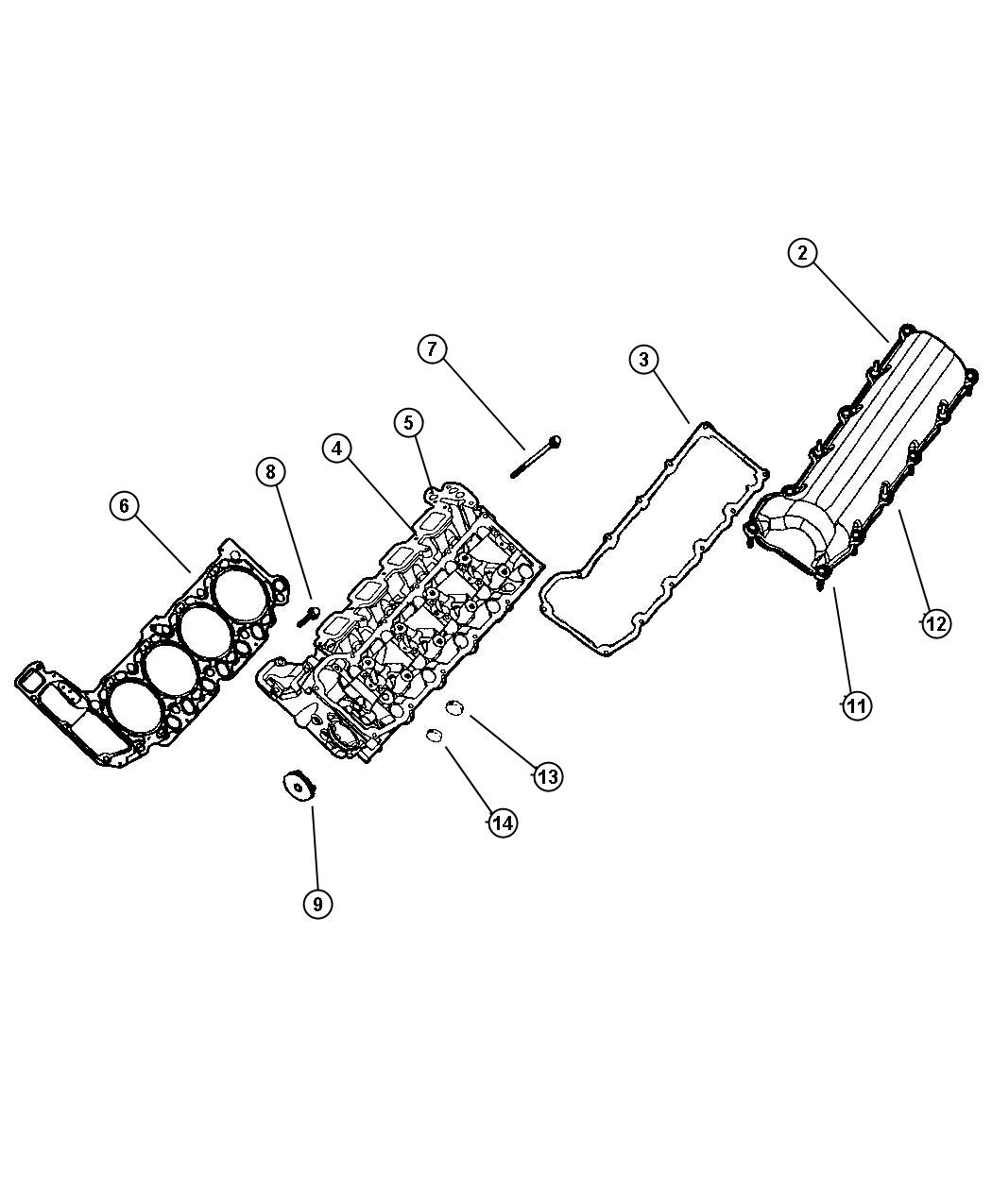 Cylinder Head, 4.7 [[Engine- 4.7L V8 MPI, Engine - 4.7L HO V8 MPI]]. Diagram