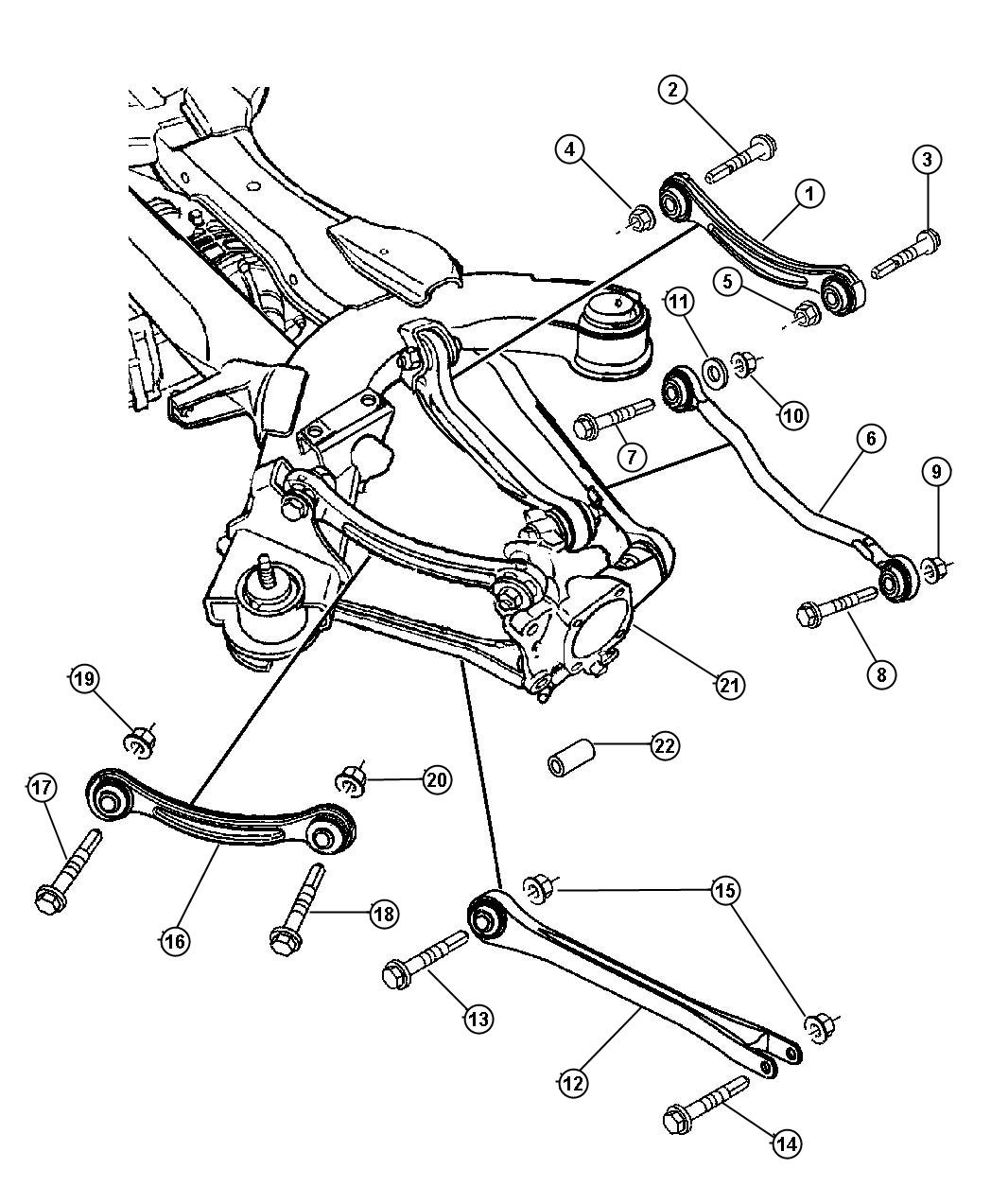 2004 chrysler pacifica rear suspension diagram