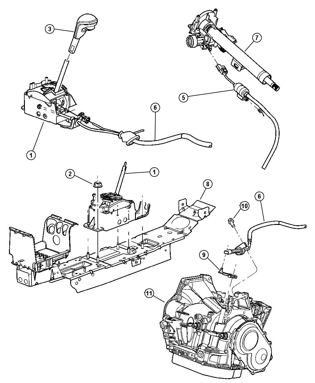 Service manual Changeing Gear Shift Assembly 2004 Jeep