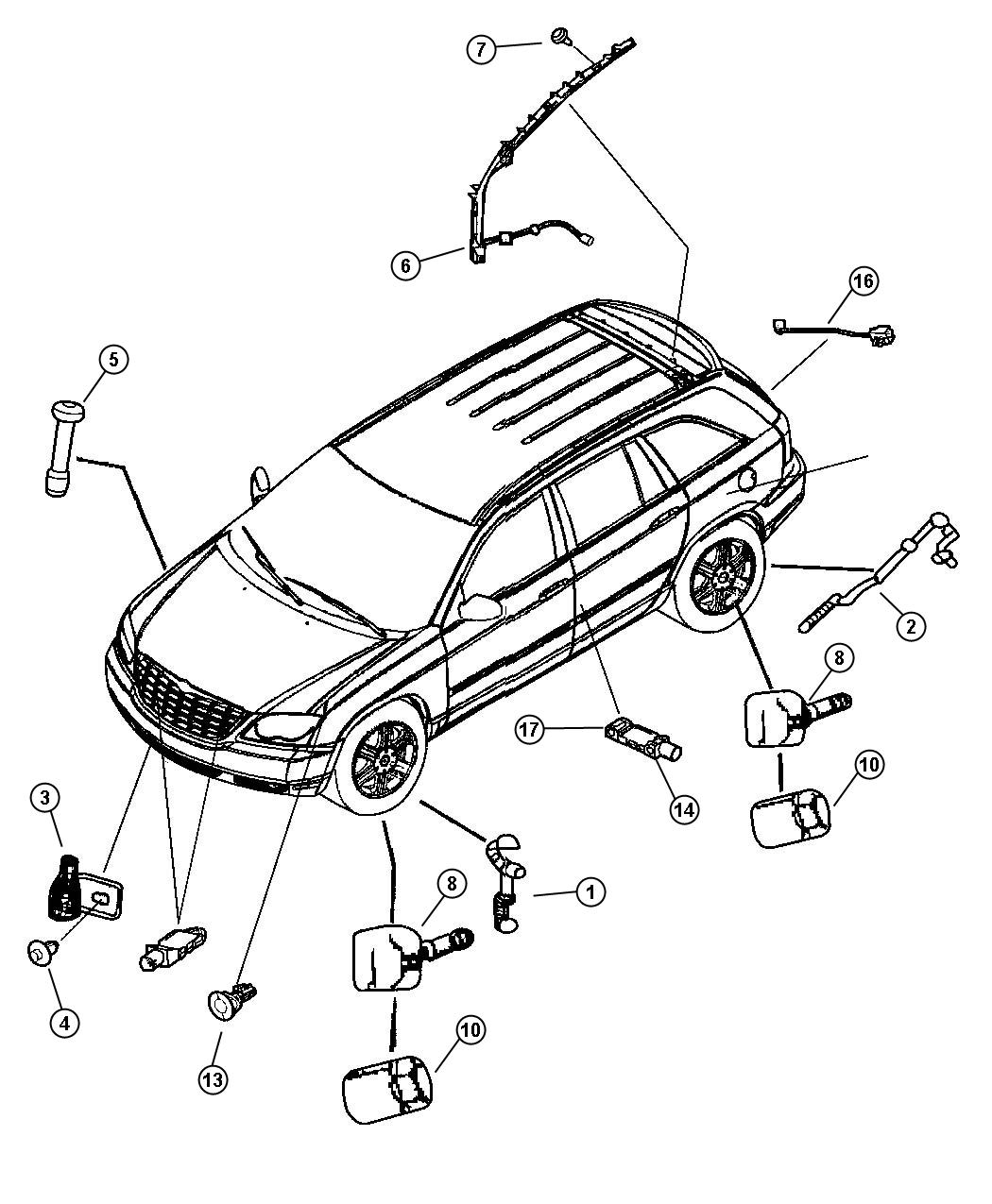 sensors body fits chrysler pacifica 2004. Cars Review. Best American Auto & Cars Review