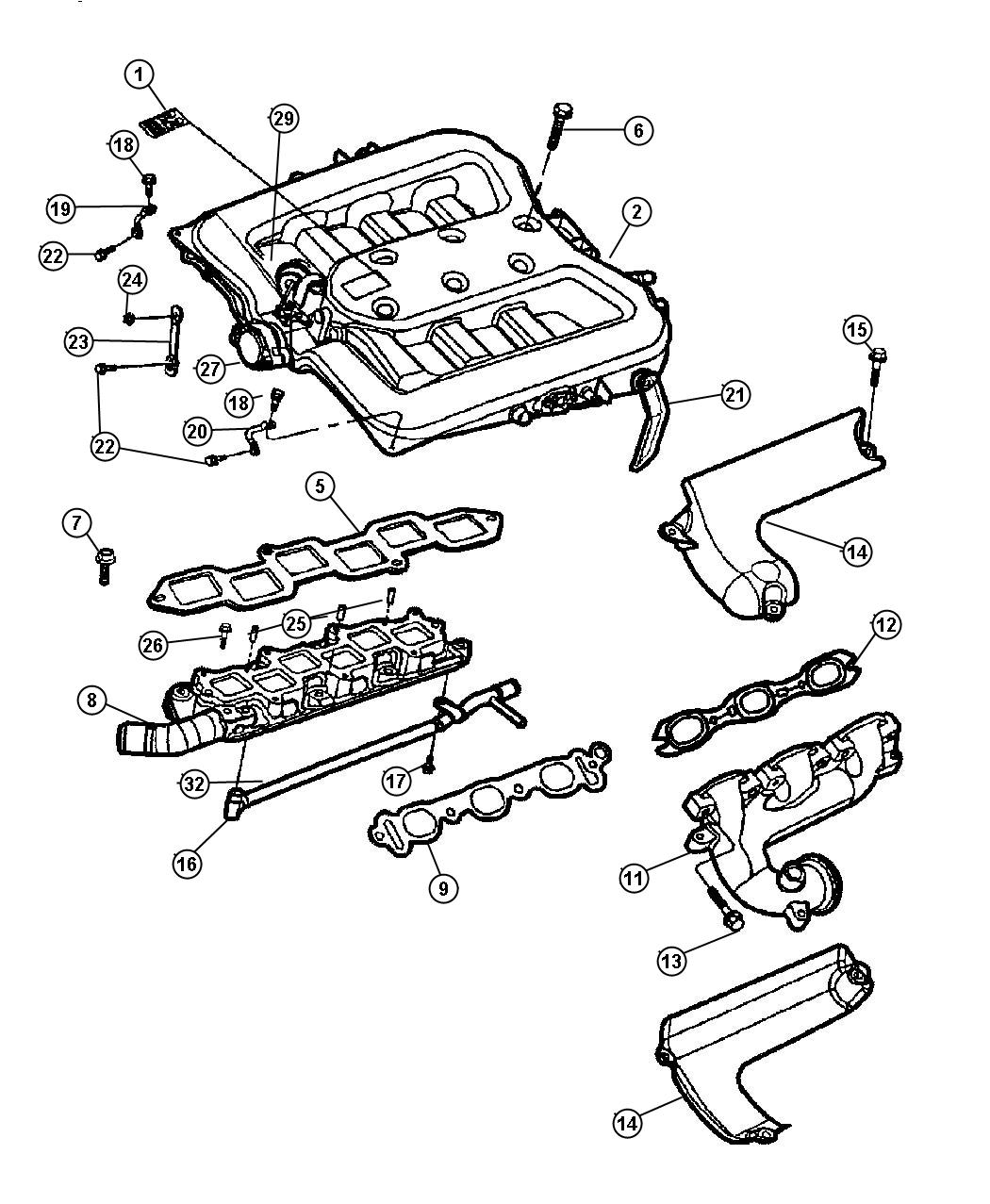 chrysler 300 actuator  manifold tuning valve  contains an actuator and o ring
