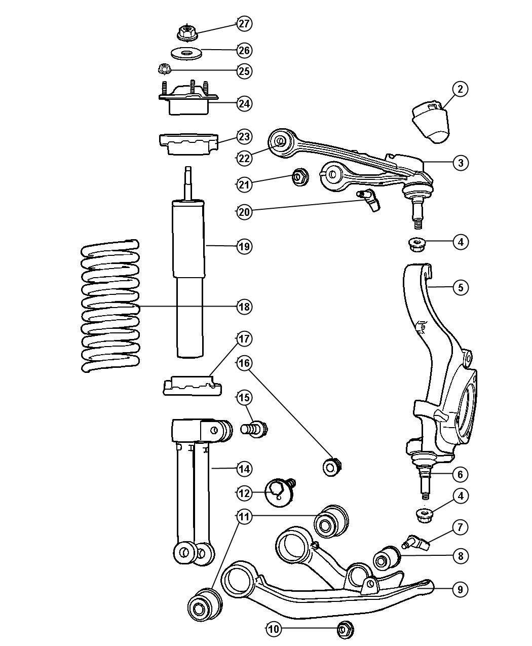 Chrysler 300 Rear End Suspension in addition 3 7 Liter Daimler Chrysler Engine besides Bentley Flying Spur Fuse Box Diagram together with 7 3 Injection Pump Fuel Shut Off Solenoid furthermore 04857673AA. on 2004 pacifica front bumper