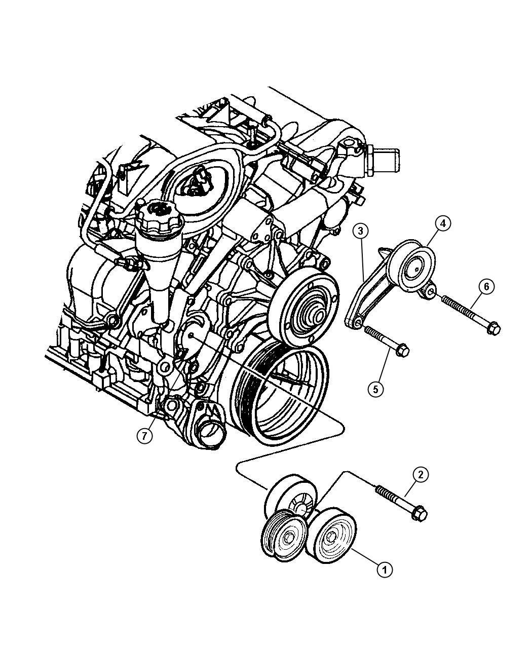 Jeep Drive Pulleys, 3.7L Engine.