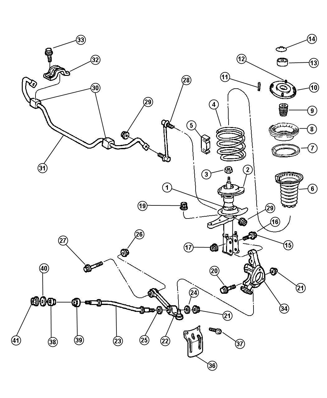 2004 dodge intrepid suspension front for Suspension sdb