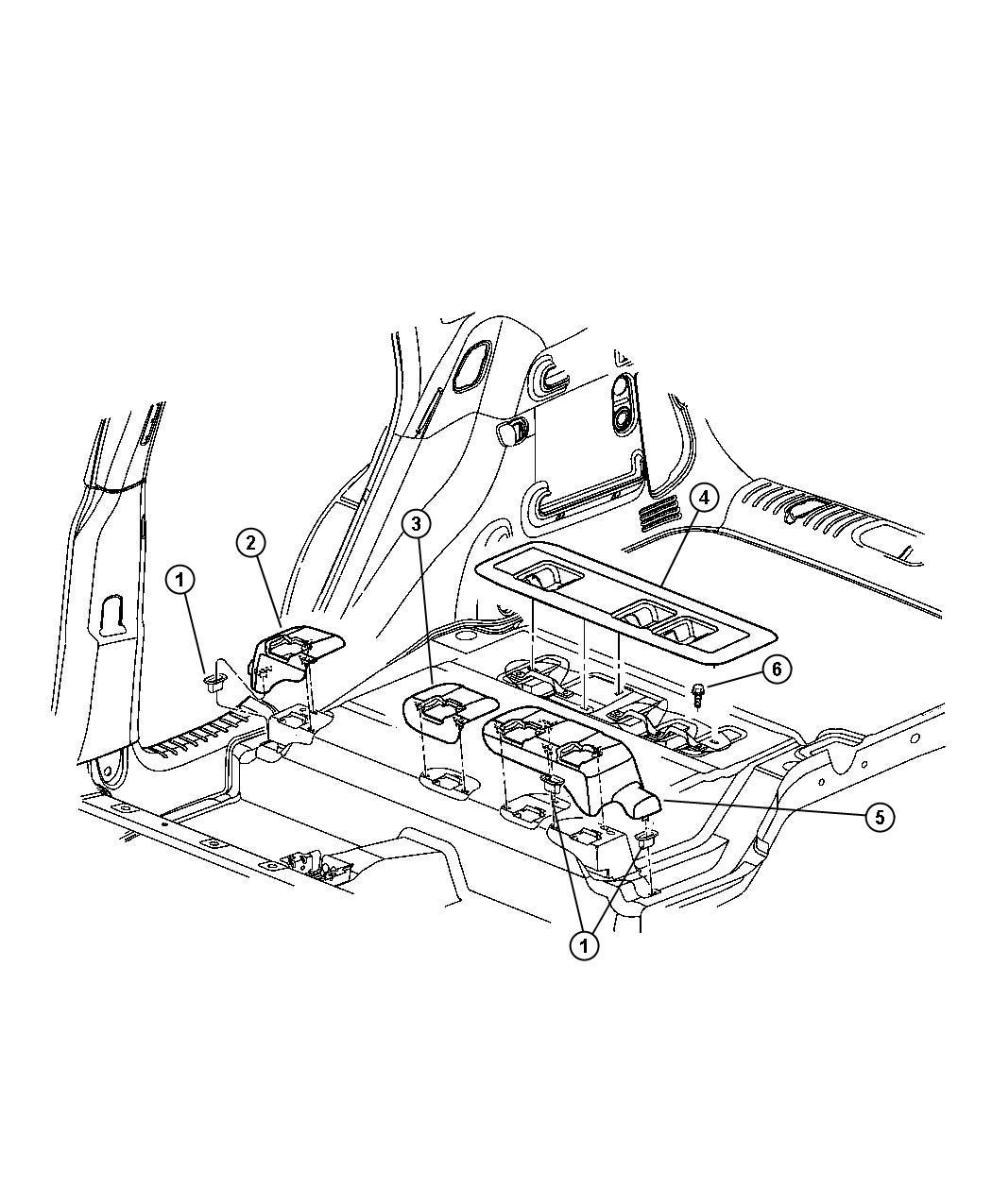 Chrysler Pt Cruiser Bezel  Seat Pivot  Center   Fl   Taupe