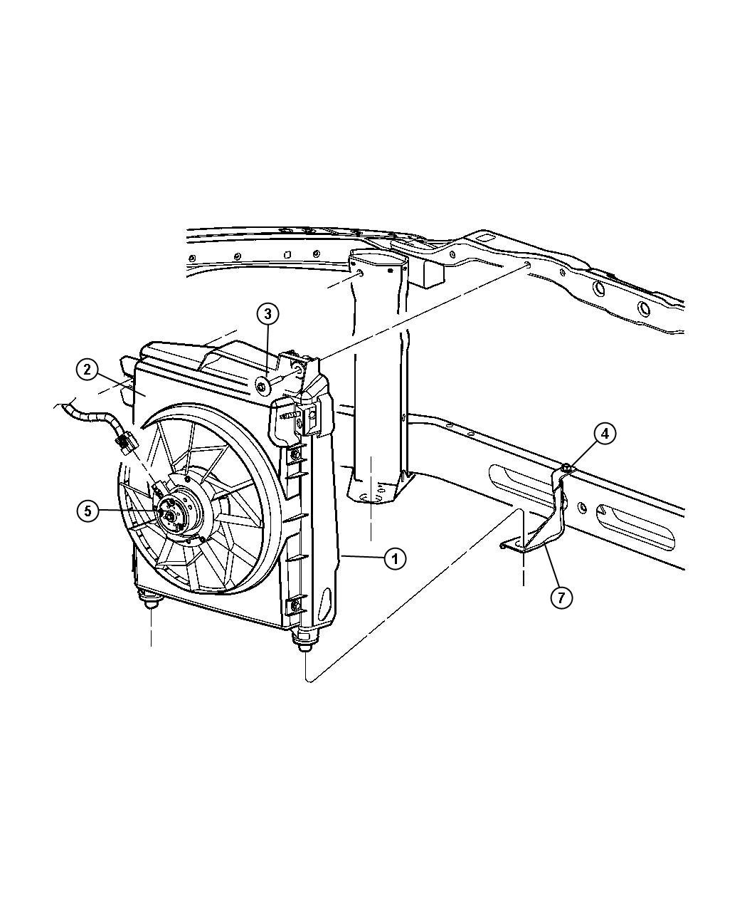 Air Conditioning Parts : Dodge ram air conditioning condenser and fan