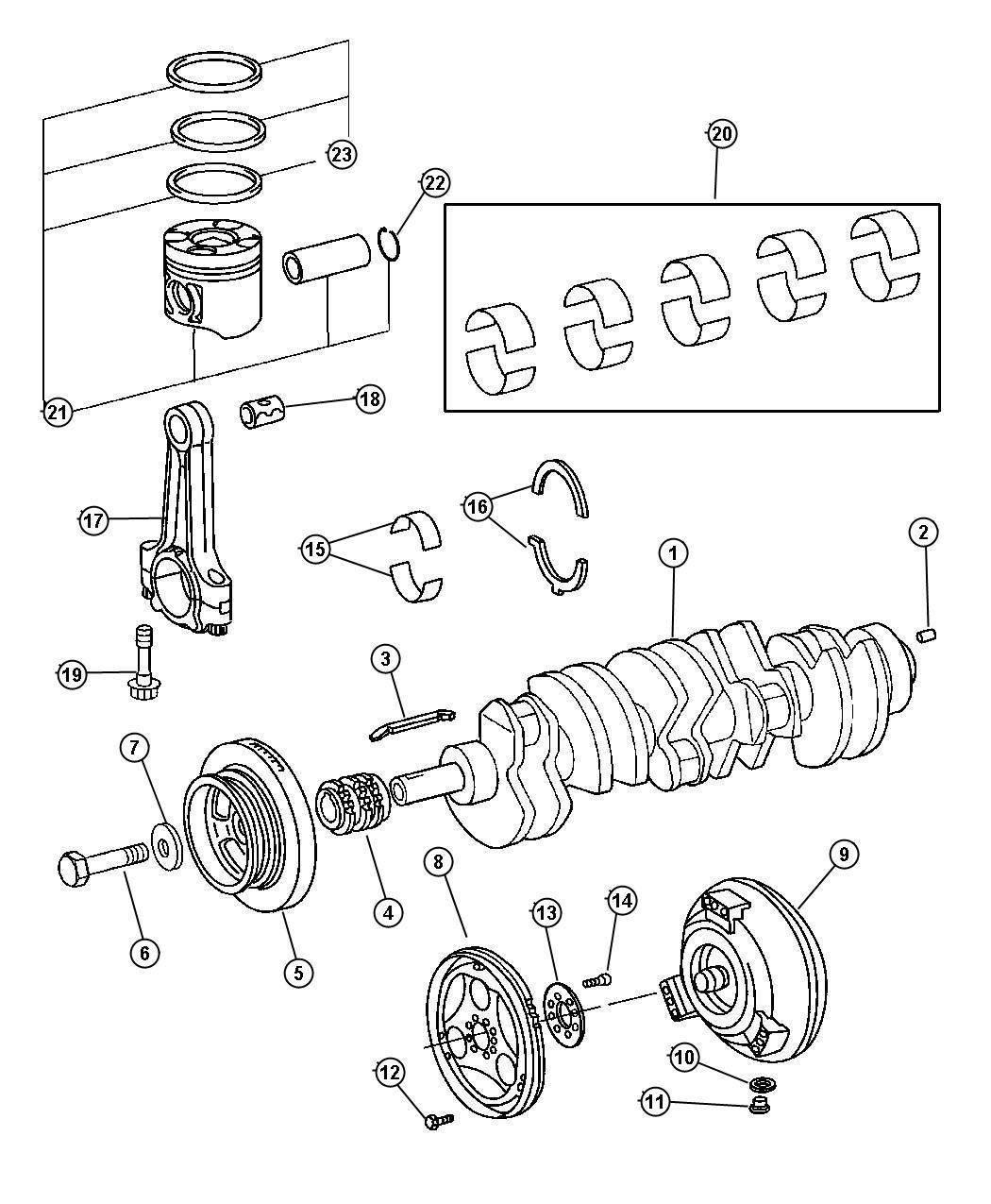 Dodge Sprinter 2500 Crankshaft And Pistons