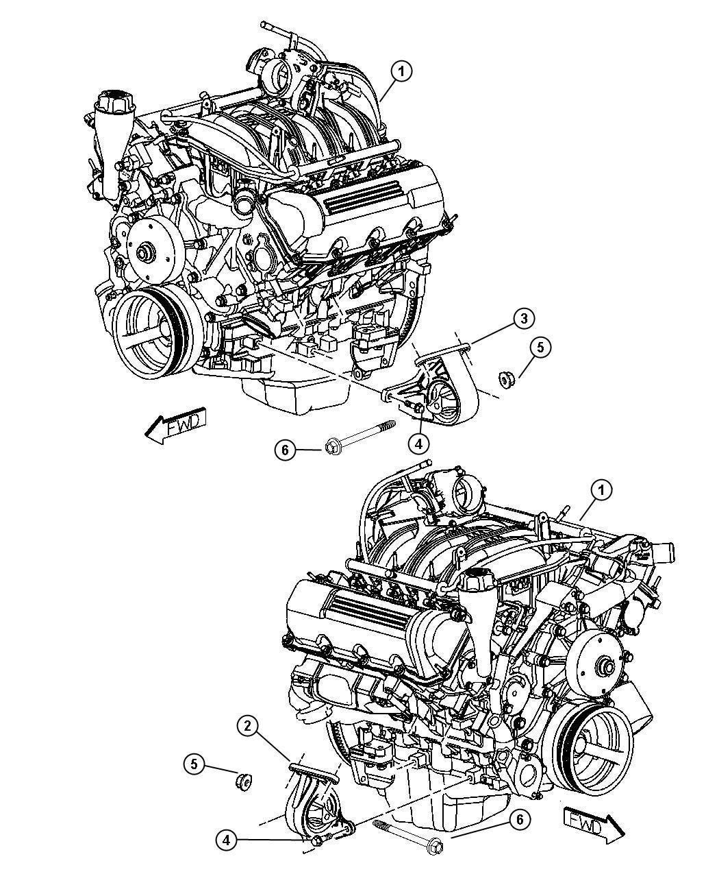 Engine Mounting, Front, N1,3.7L Engine - 3.7L V6.