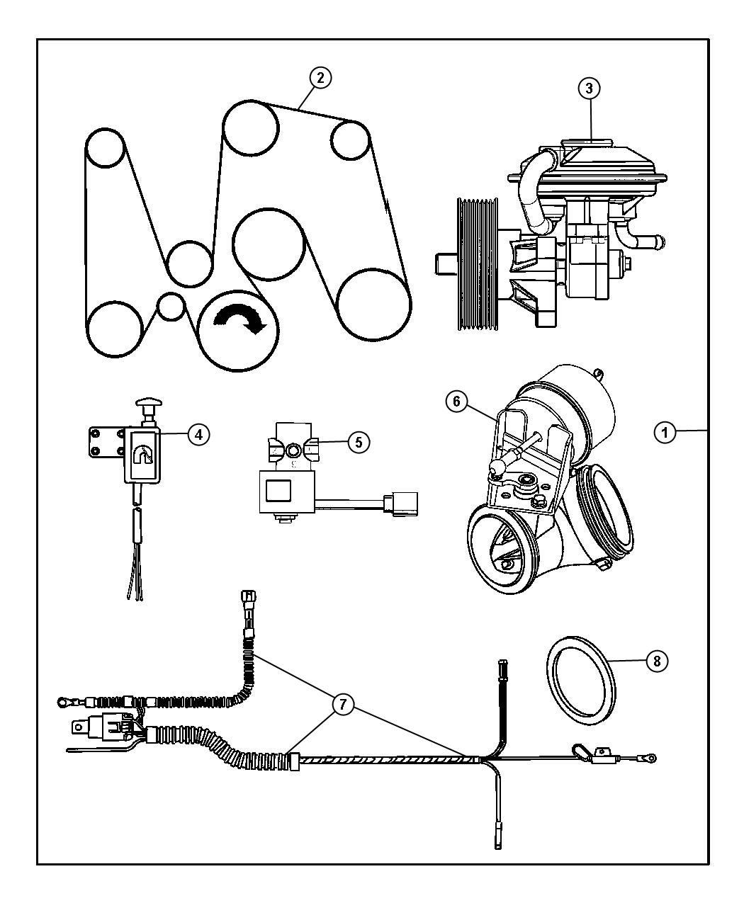 new mopar 5102081aa exhaust jake brake kit new oem 2004