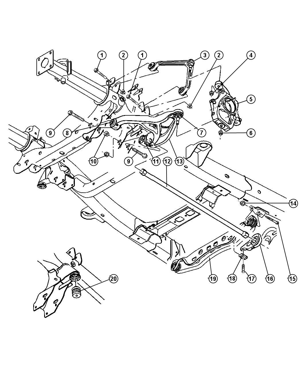 2007 dodge 1500 front axle diagram