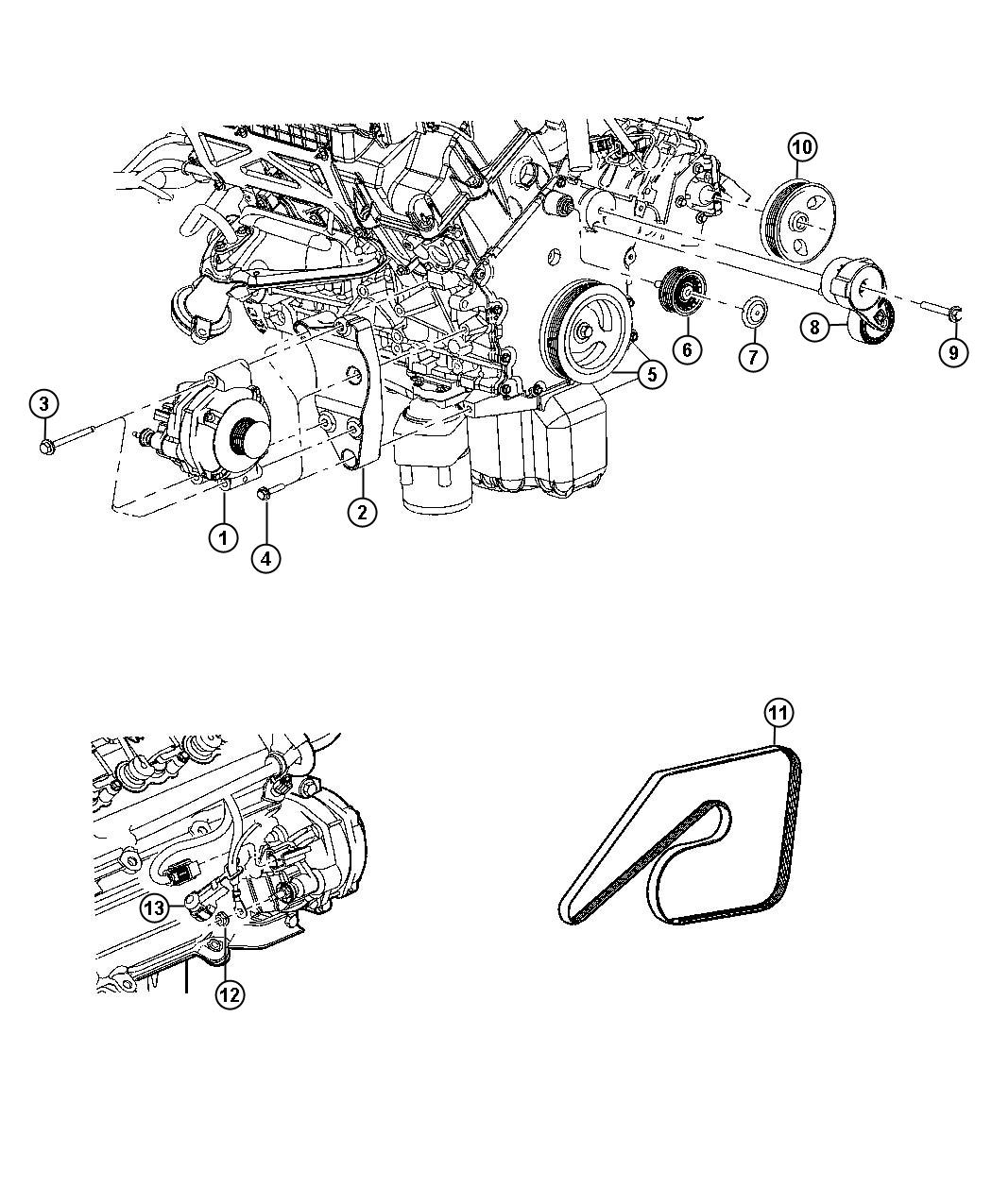 Picture of chrysler motor and engine parts