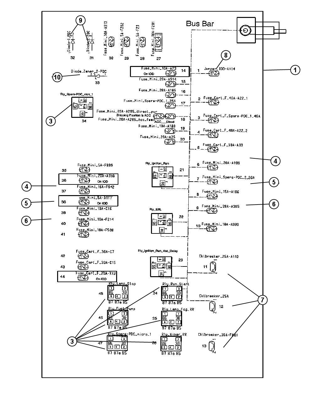 I on 2005 Dodge Magnum Fuse Box Diagram