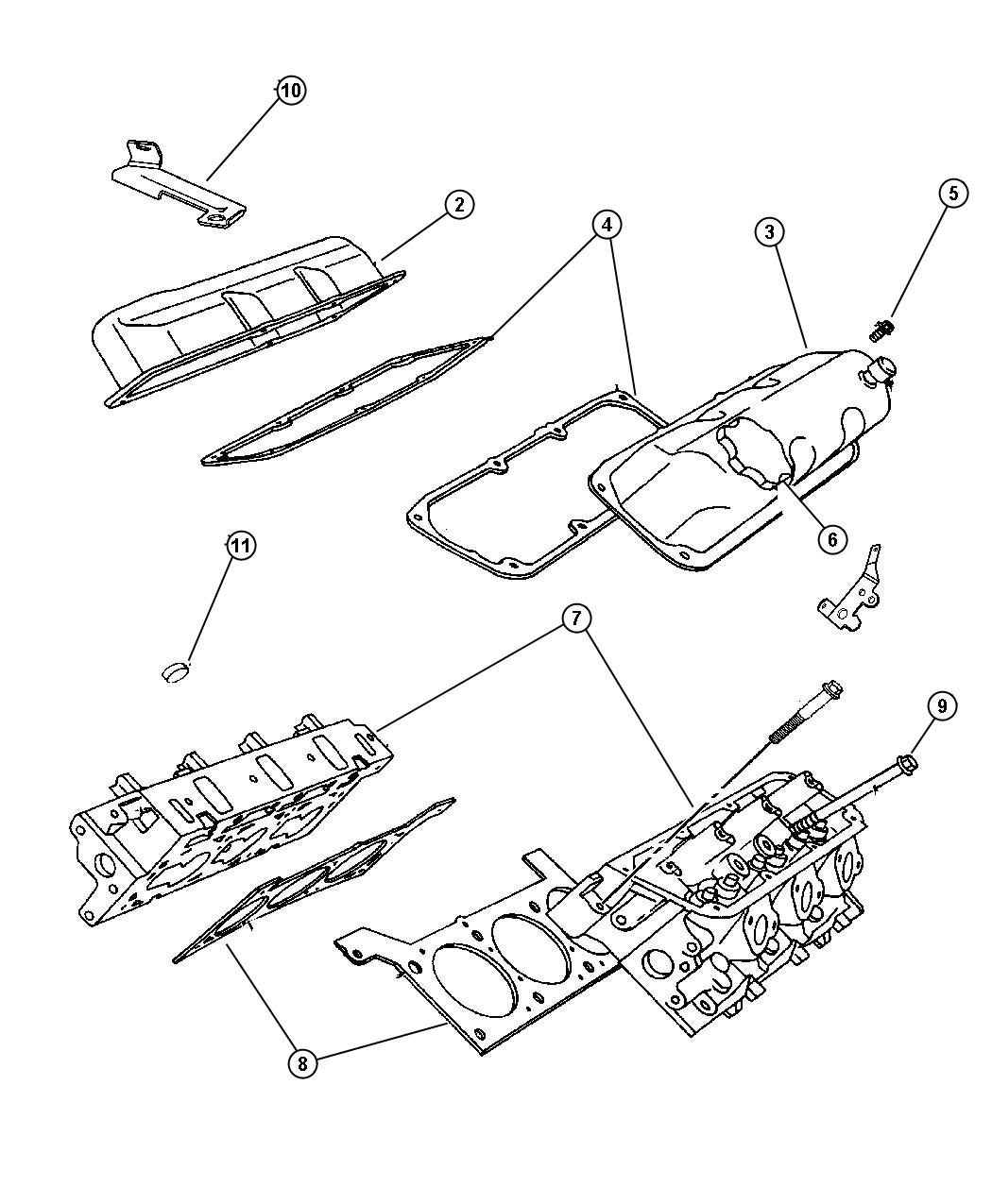 Cylinder Head 3.8L [Engine - 3.8L V6 OHV]. Diagram