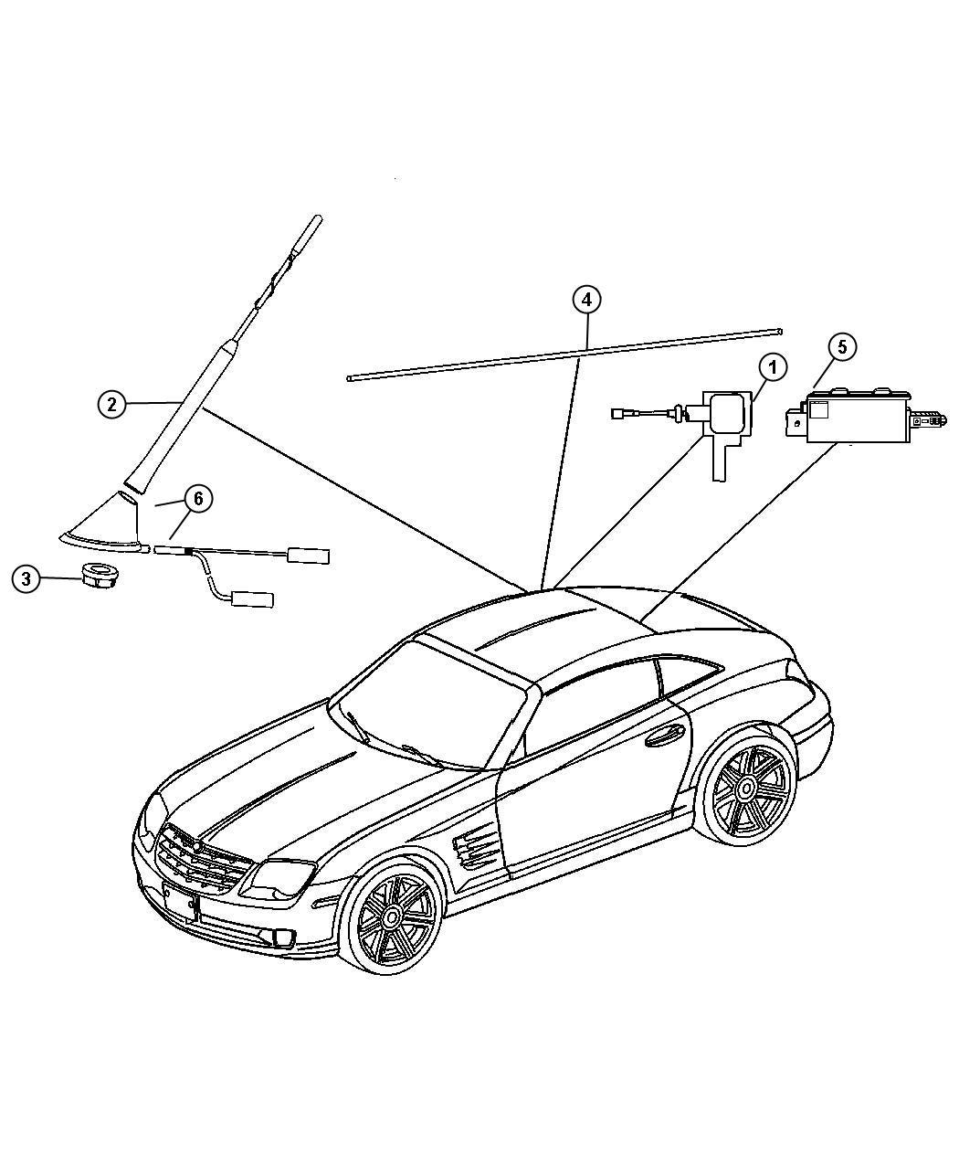 service manual  2005 chrysler crossfire antenna repair
