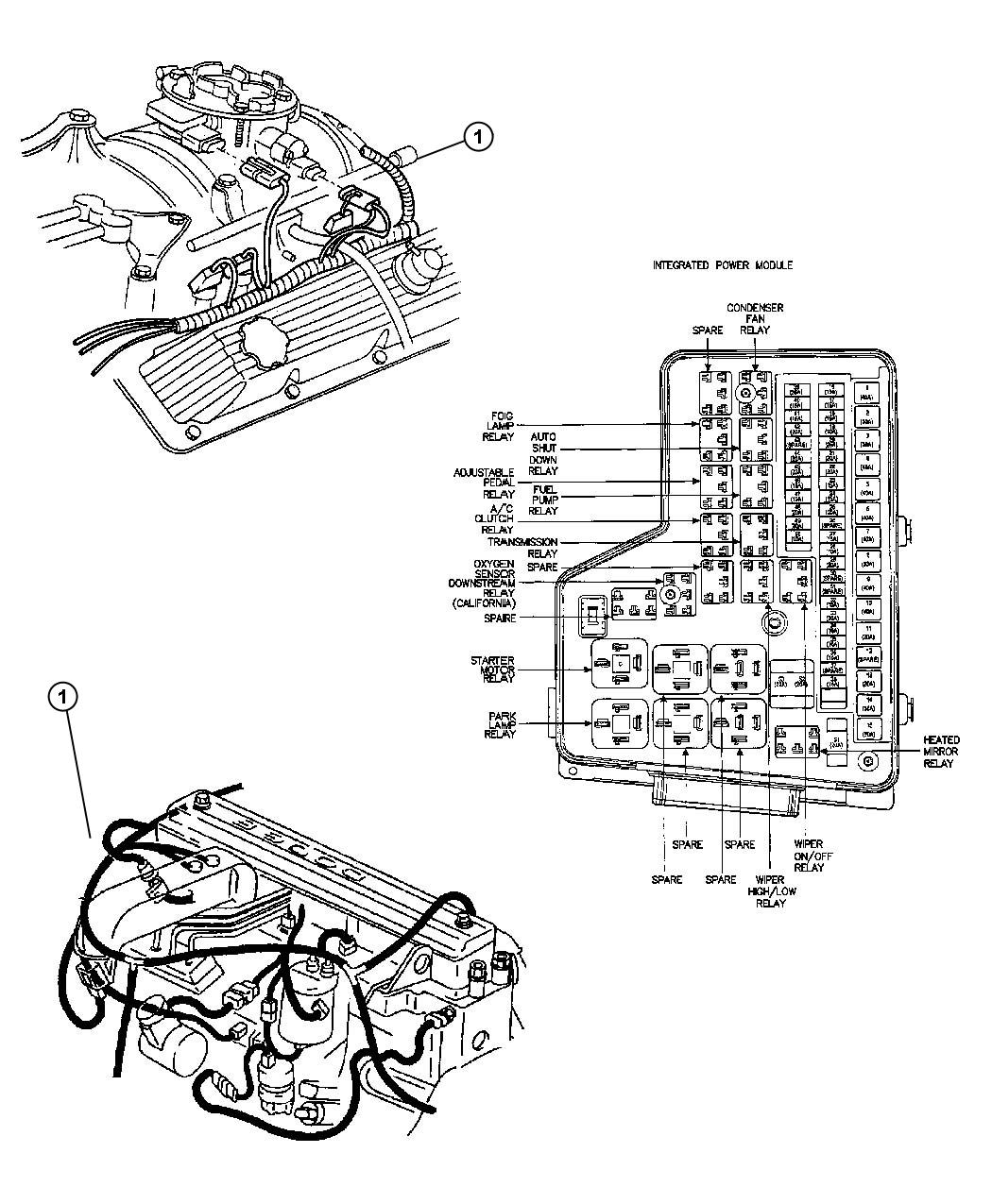 56051399AA - Chrysler Wiring. Fuel module. Air fuel module ...