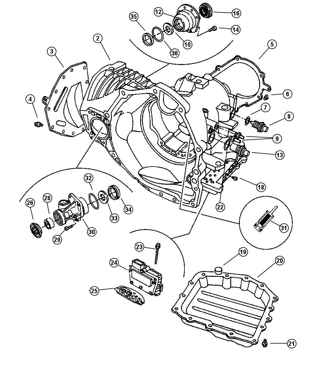chrysler pacifica solenoid module  solenoid package  41te transaxle  transmission  valve