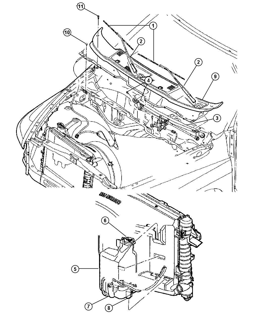 Dodge Ram 2500 Reservoir  Washer   All Diesels Engines