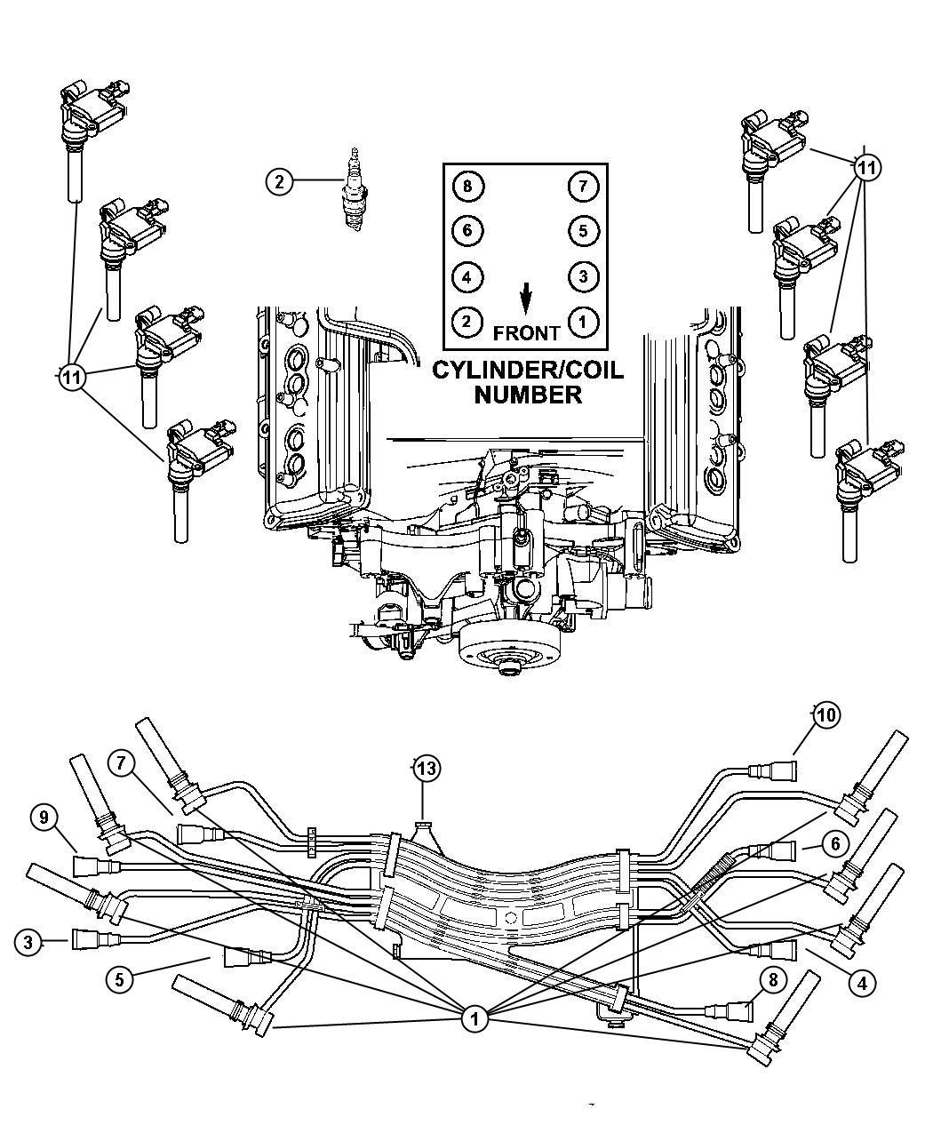 56028394AD  MOPAR Coil Ignition Plugscables   Factory