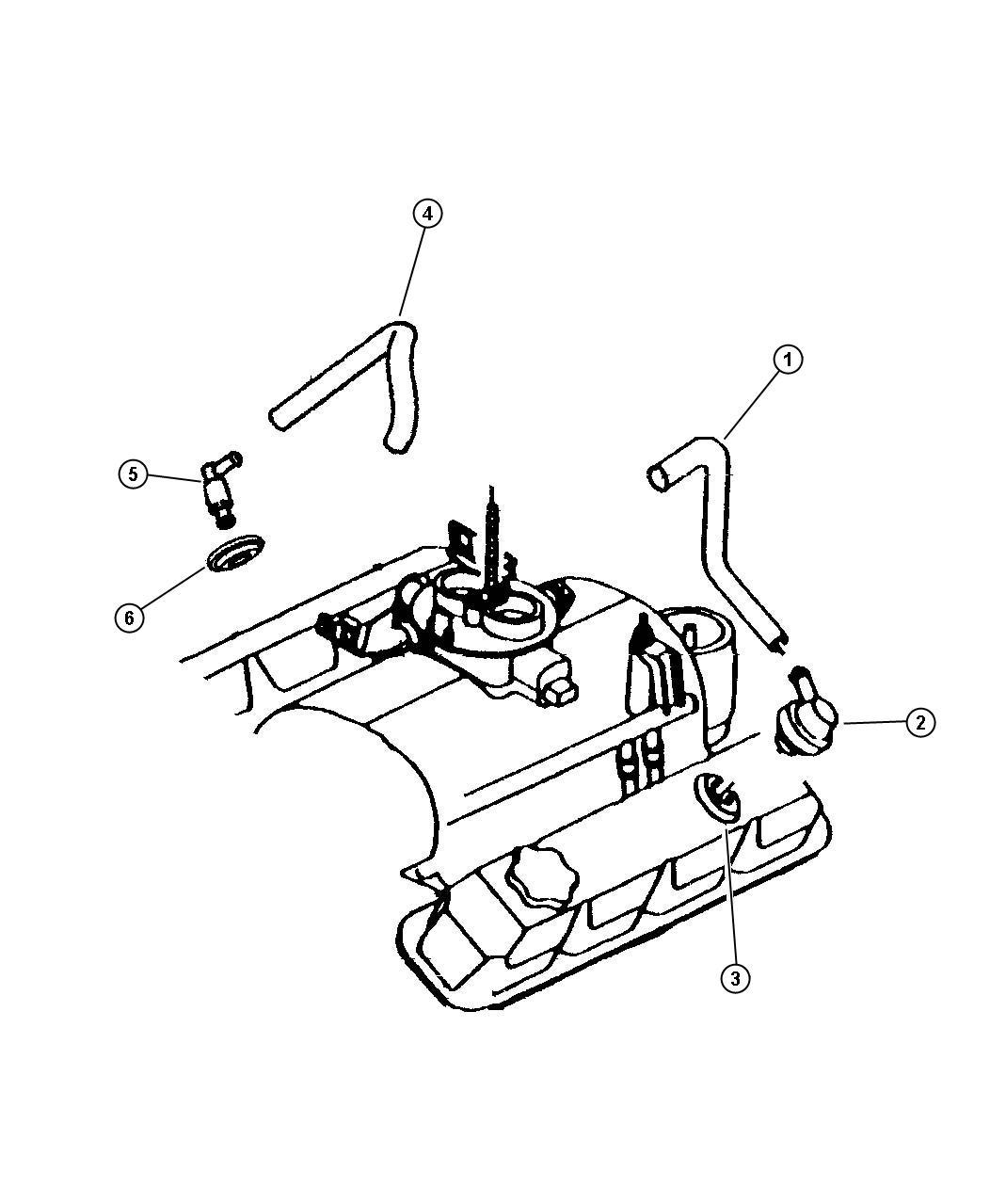 Dodge Dakota Filter  Fitting  Crankcase Vent  Crankcase
