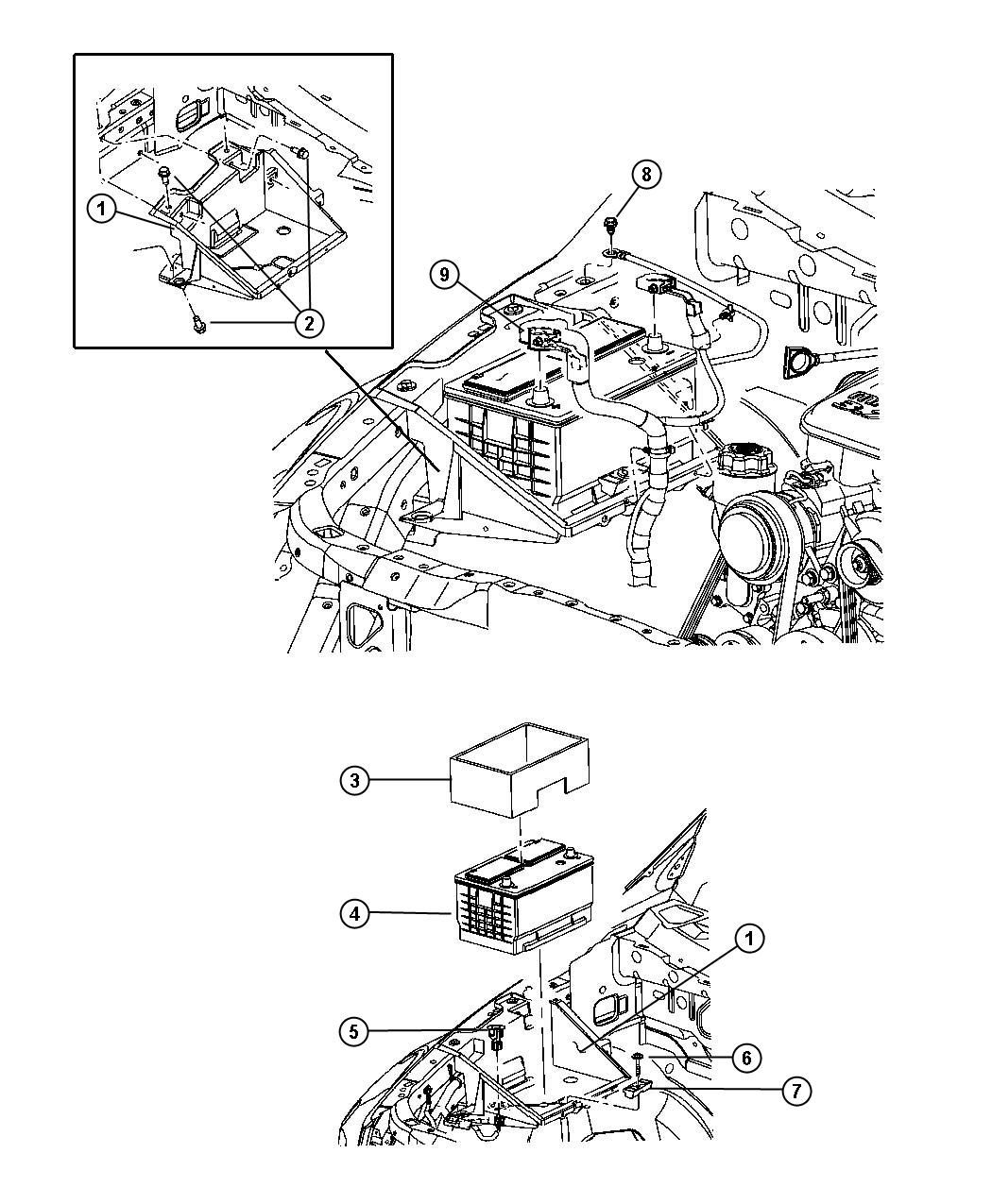 dodge durango wiring  battery  positive and negative