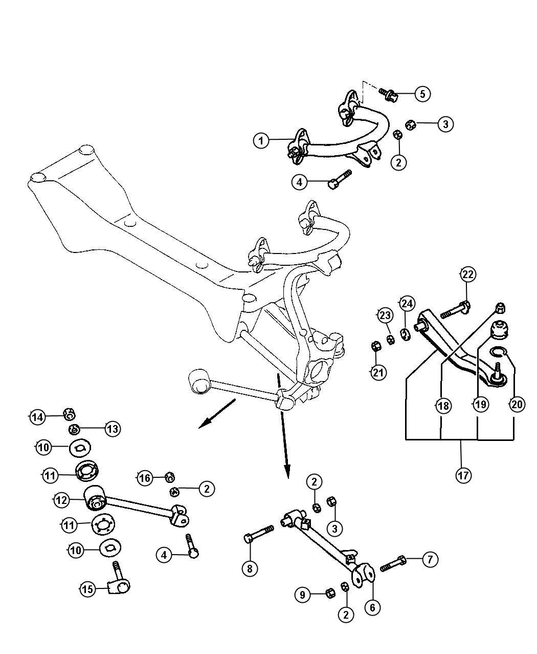 dodge stratus control arm diagram