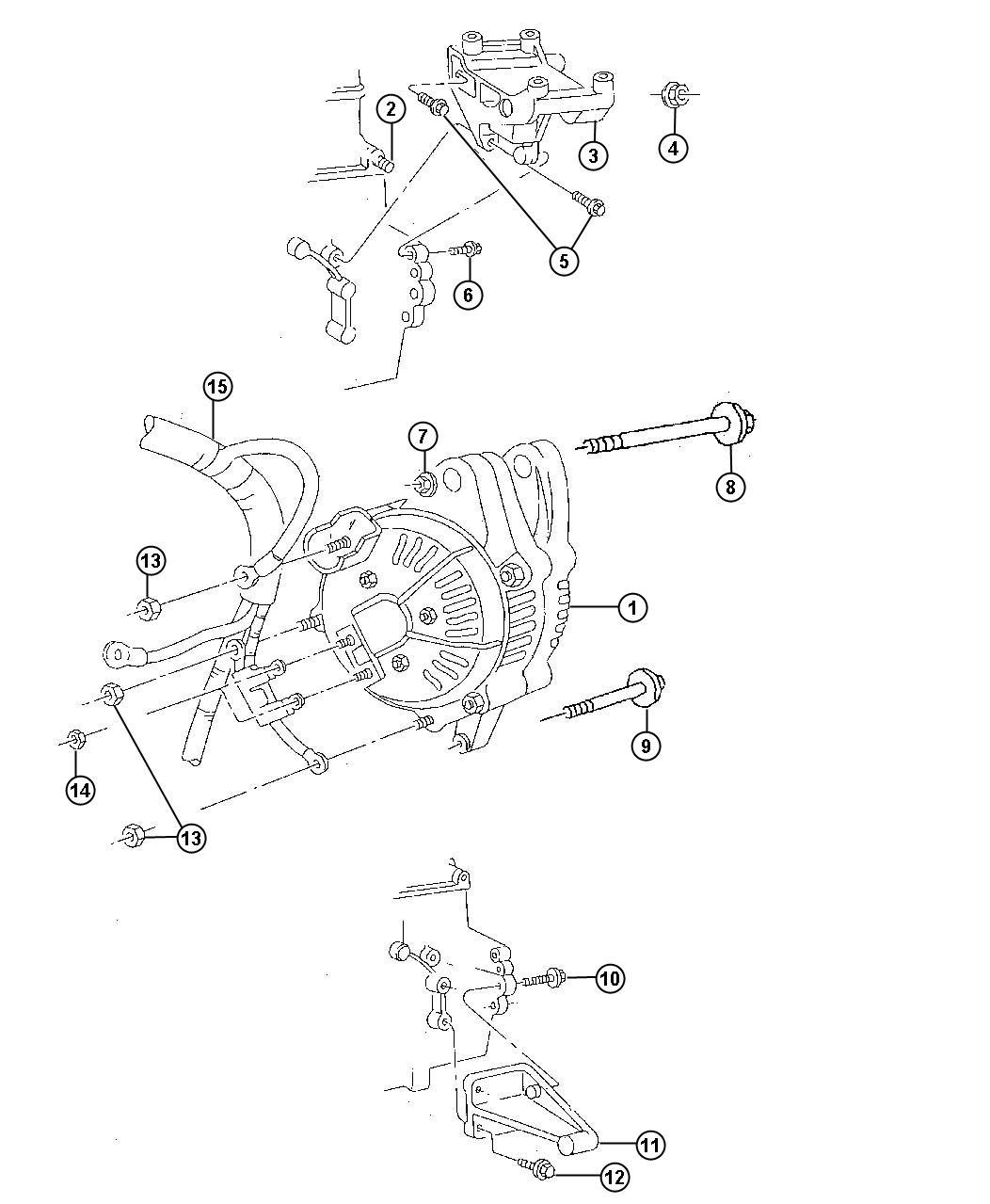 56009115AB - Chrysler Wiring. Alternator and battery ...