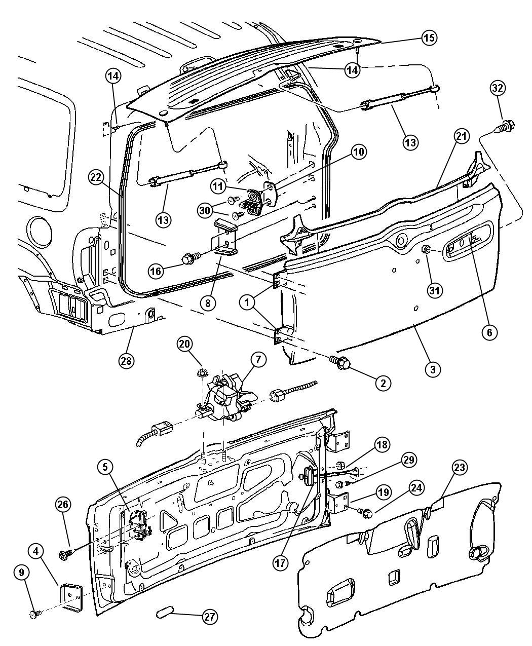 jeep liberty parts diagram door swing