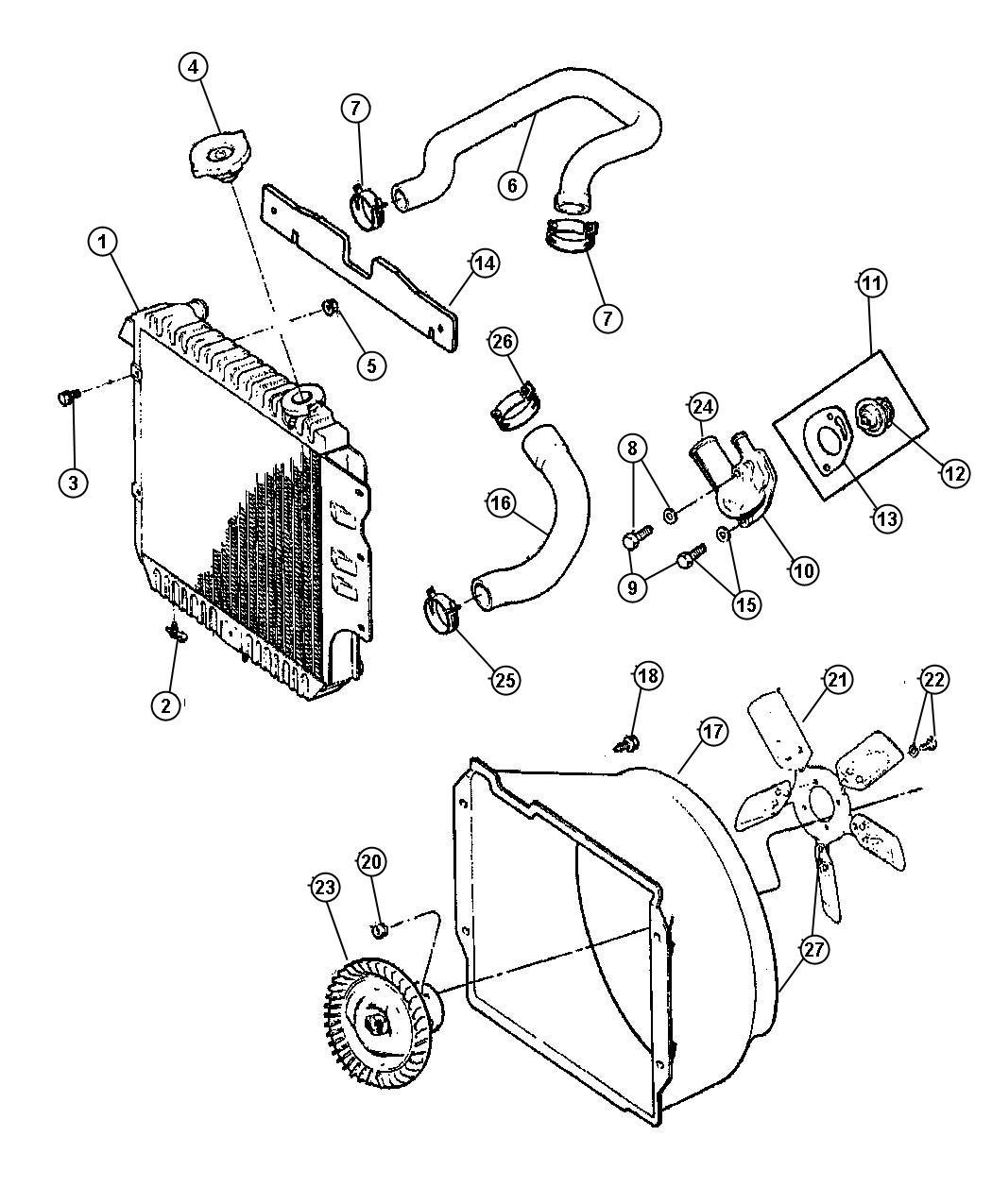 Jeep Wrangler Radiator  Engine Cooling