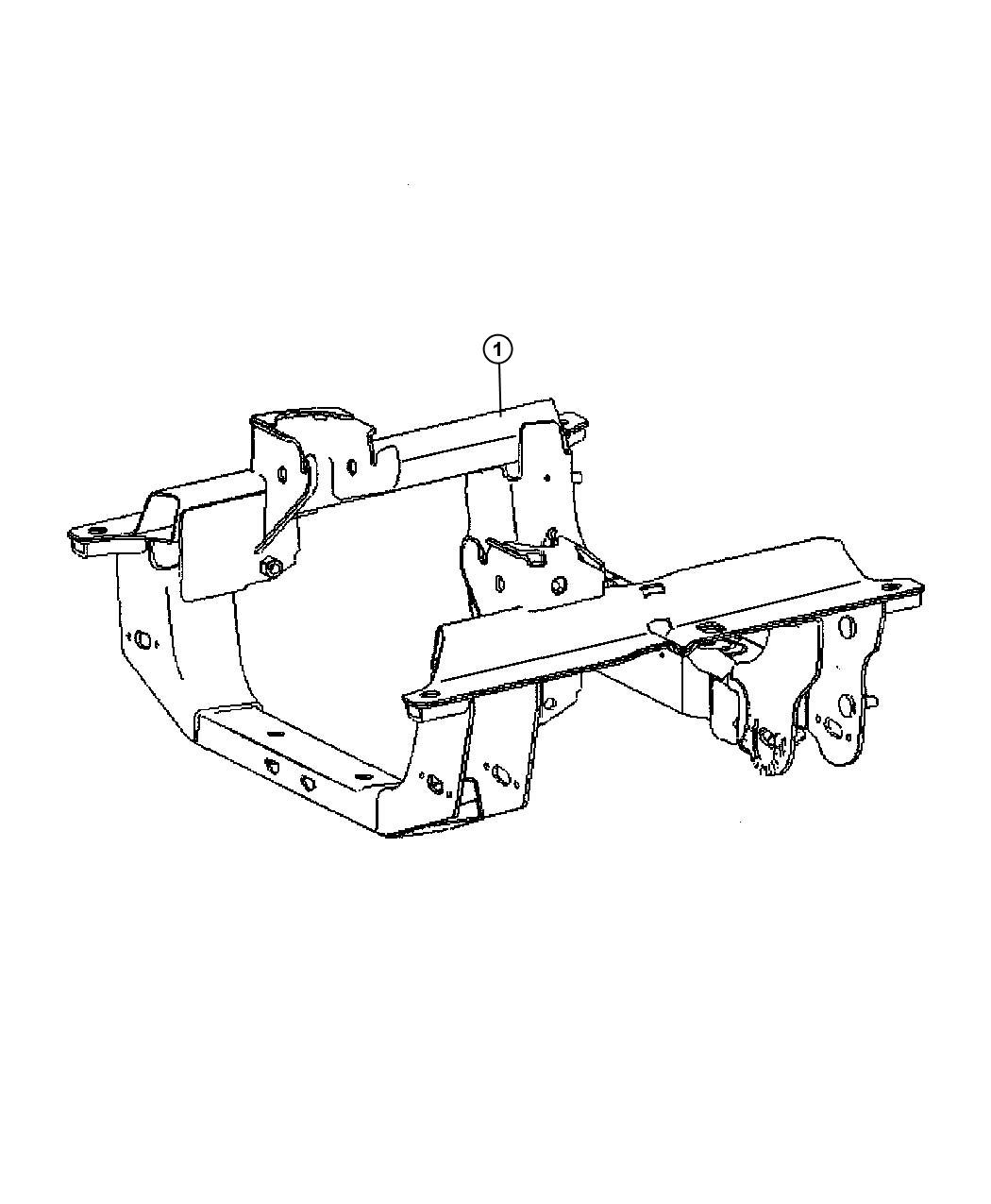 2005 Jeep Liberty Cradle. Front suspension. [engines - all ...
