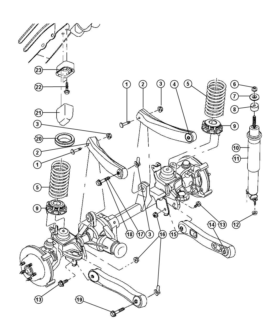 2003 Jeep Grand Cherokee Isolator  Lower  Front Suspension