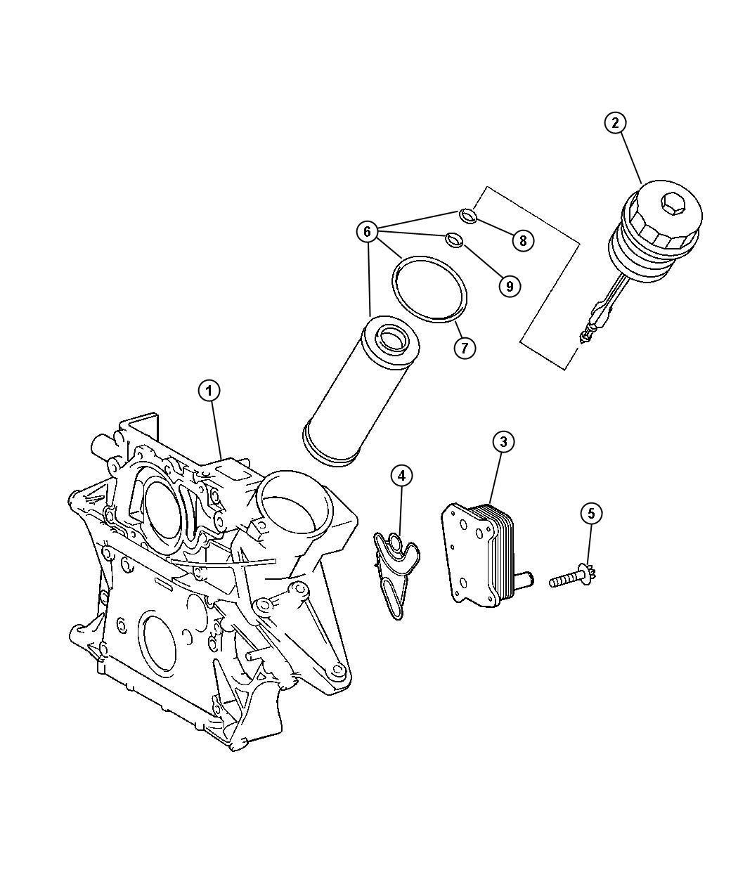 New Genuine Mopar 05086301AA Engine Oil Filter for Dodge Sprinter 2500 3500
