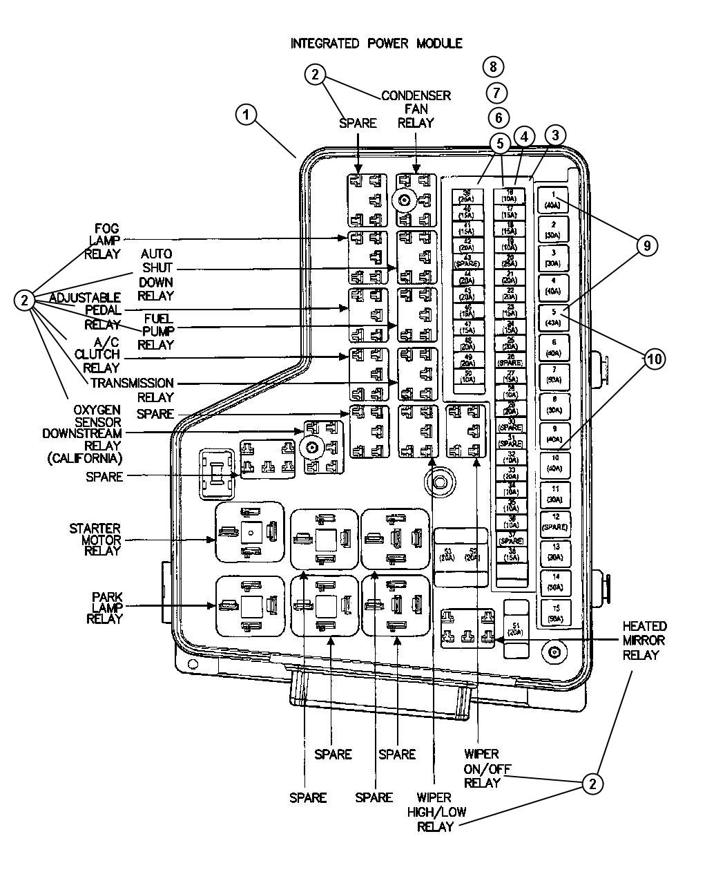 00i99257 solved where is wiper relay on 2006 dodge ram 1500 fixya 2004 dodge ram 2500 fuse box diagram at fashall.co