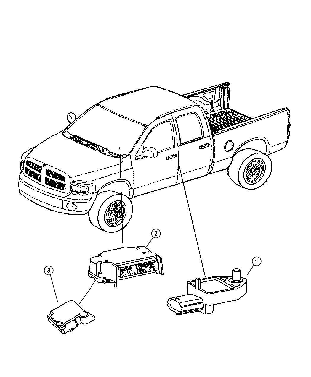 Dodge Ram 1500 Sensor  Impact  Side Airbag Impact