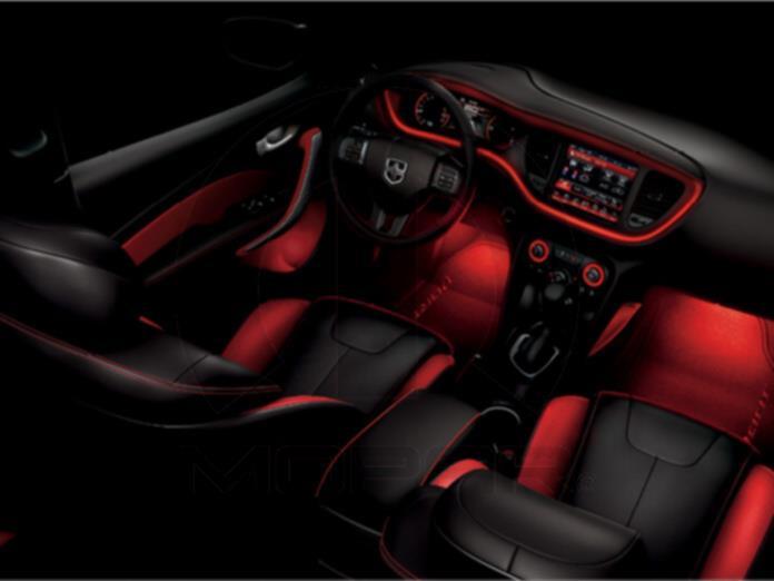 Chrysler 200 Interior Ambient Lighting Illuminates Footwells Interior Ambient 82212347