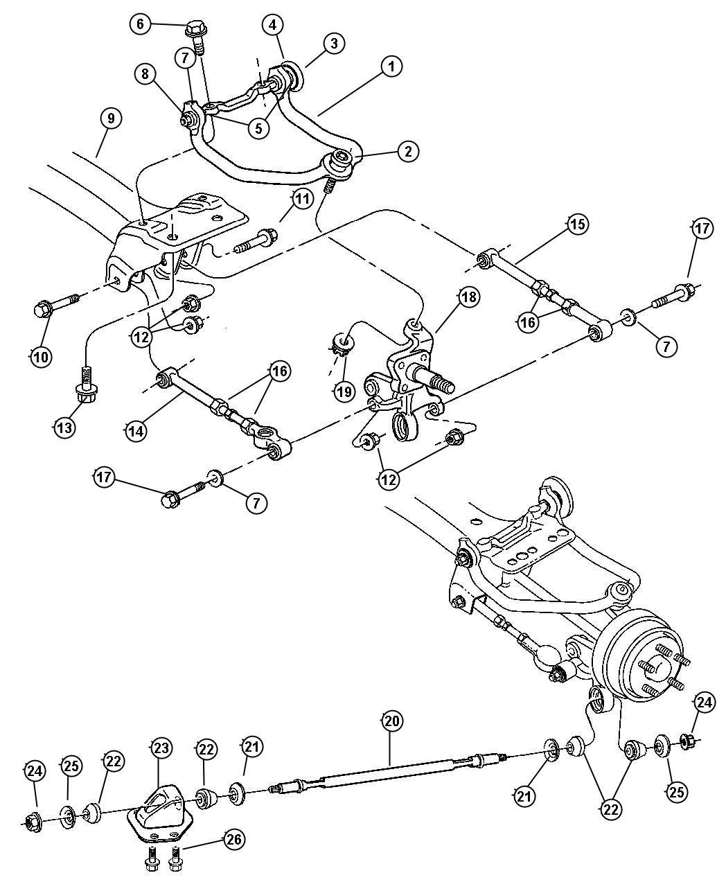 dodge stratus lower control arm diagram
