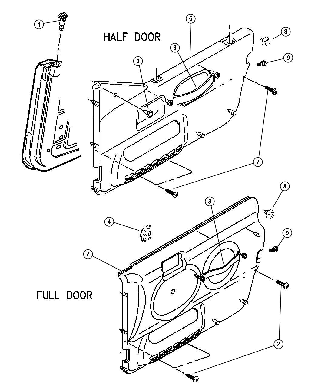 jeep wrangler interior door panels