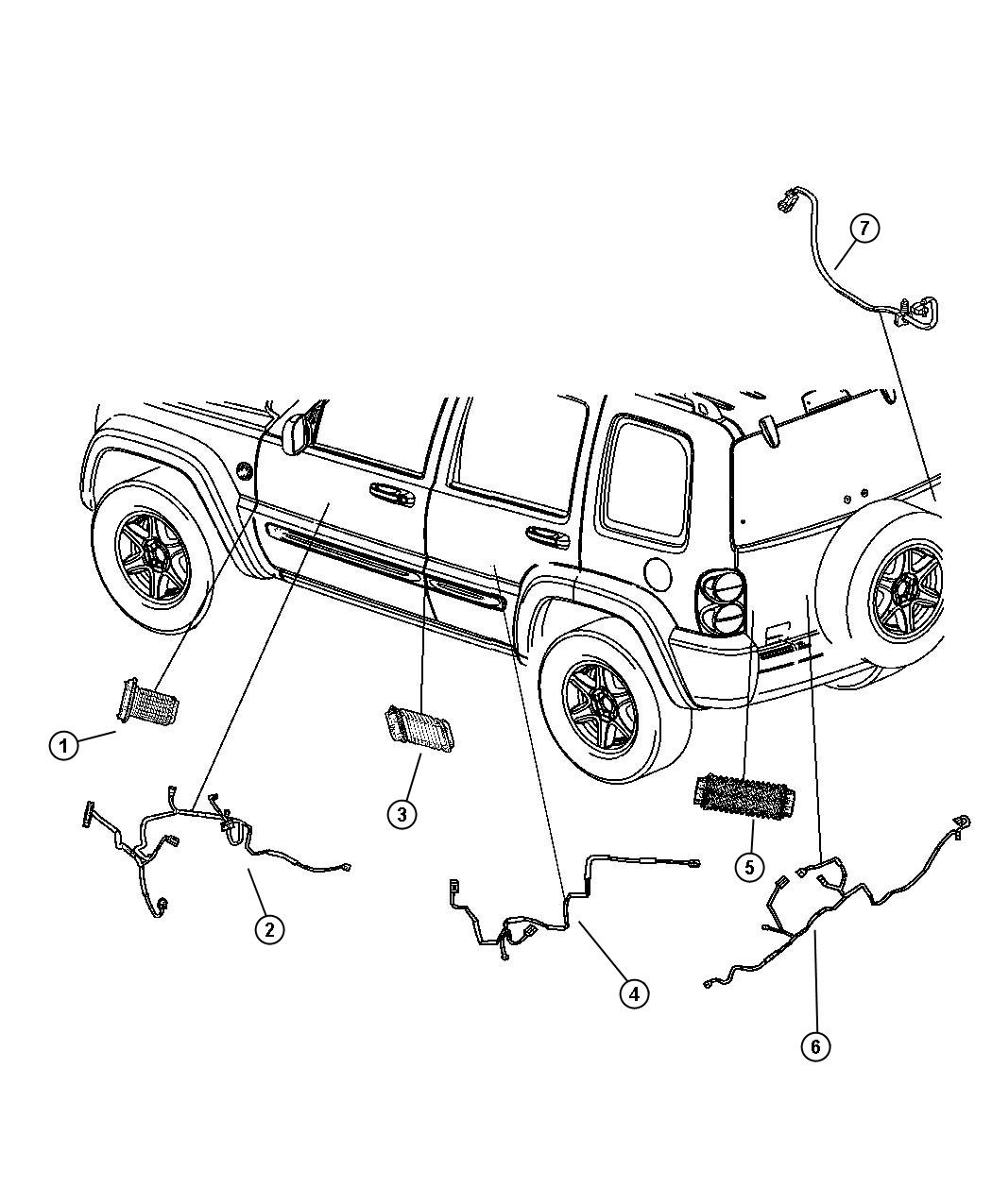cargo trailer wiring schematic cargo discover your wiring jeep liberty door parts diagram