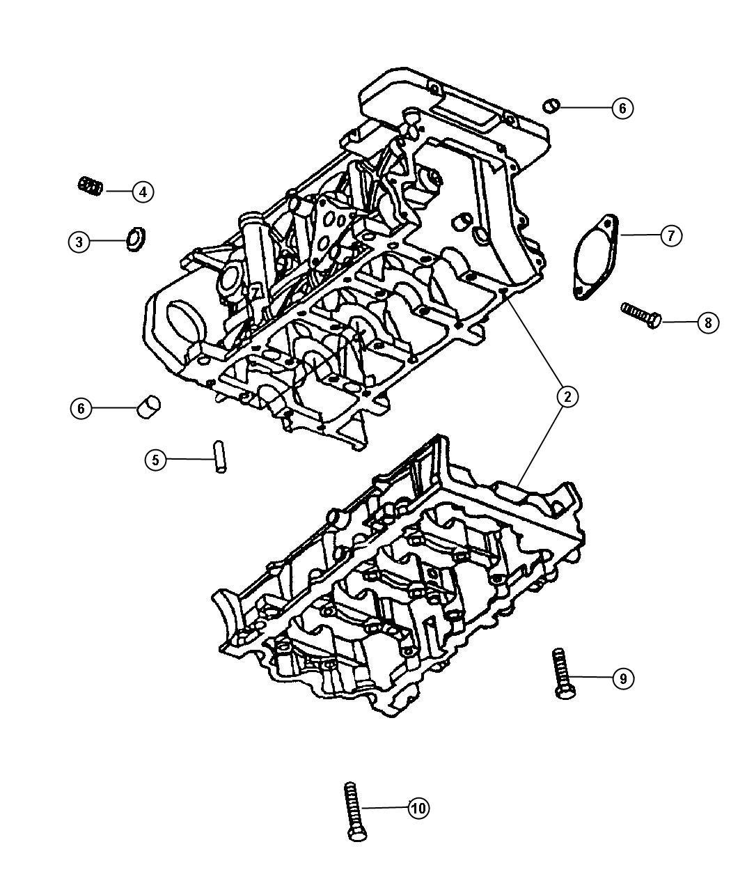 1997 Dodge Intrepid Bolt  Hex Head  M10x1 50x75  C  Member