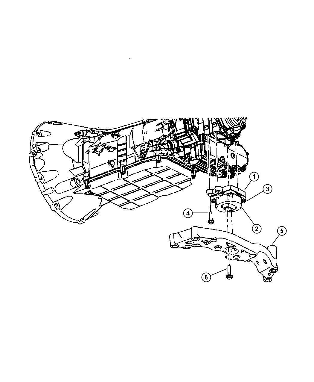 Dodge Charger Crossmember  Transmission  Mount To Transmission