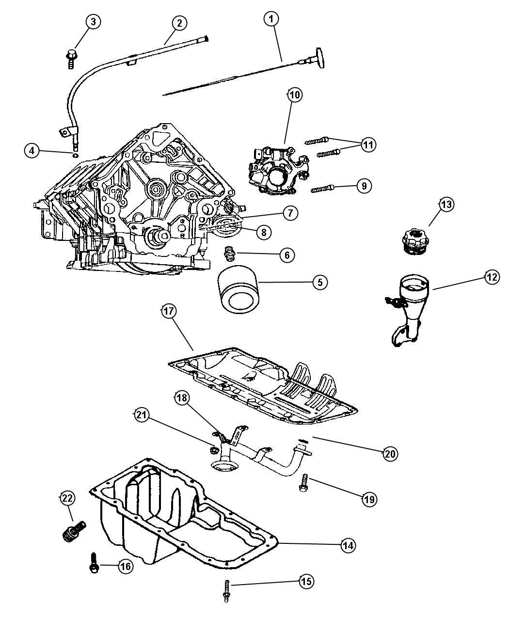 2006 Dodge Ram 2500 Engine Oiling 5 7l  Engine