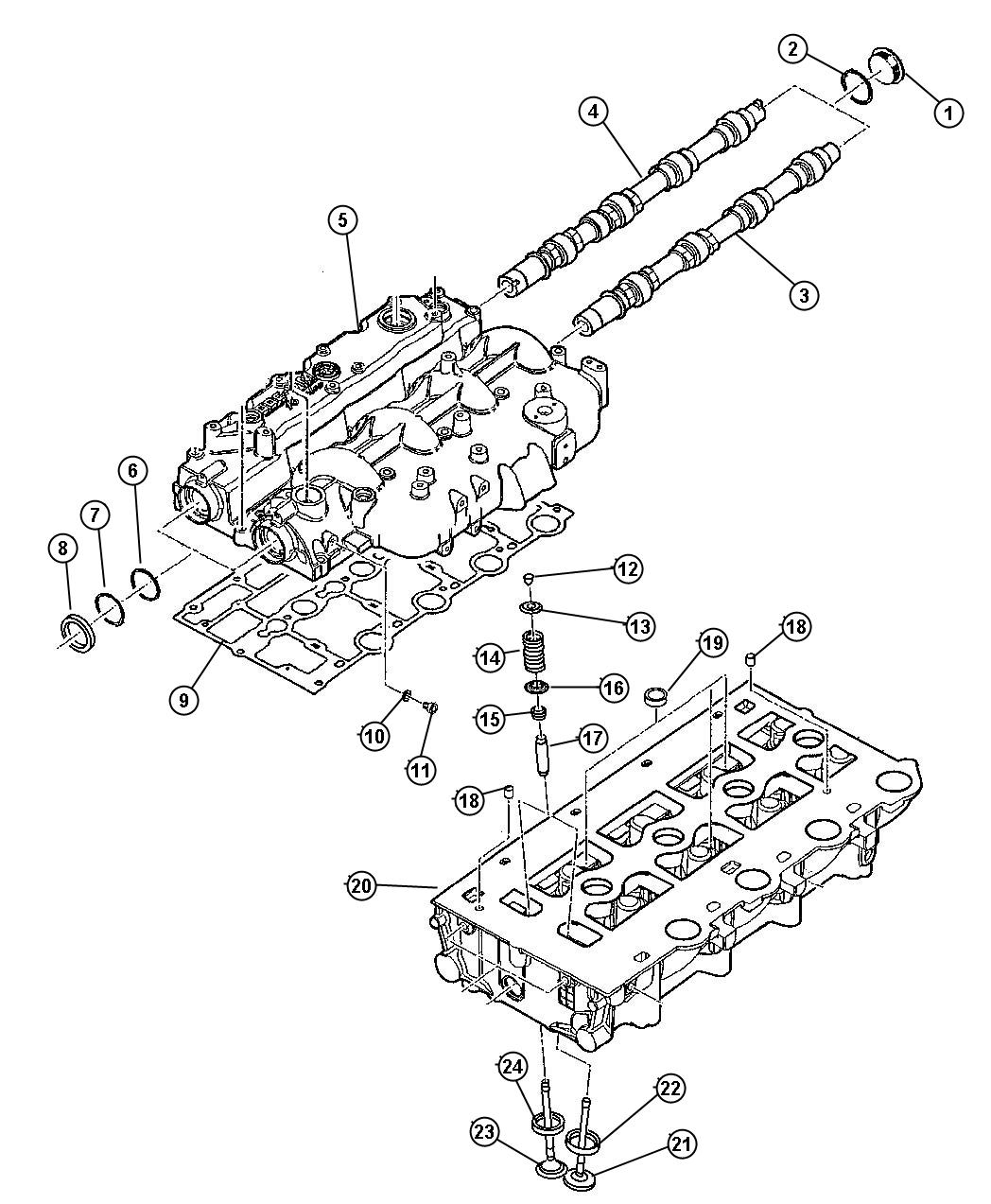 2005 Jeep Liberty Guide. Intake/exhaust Valve. Standard