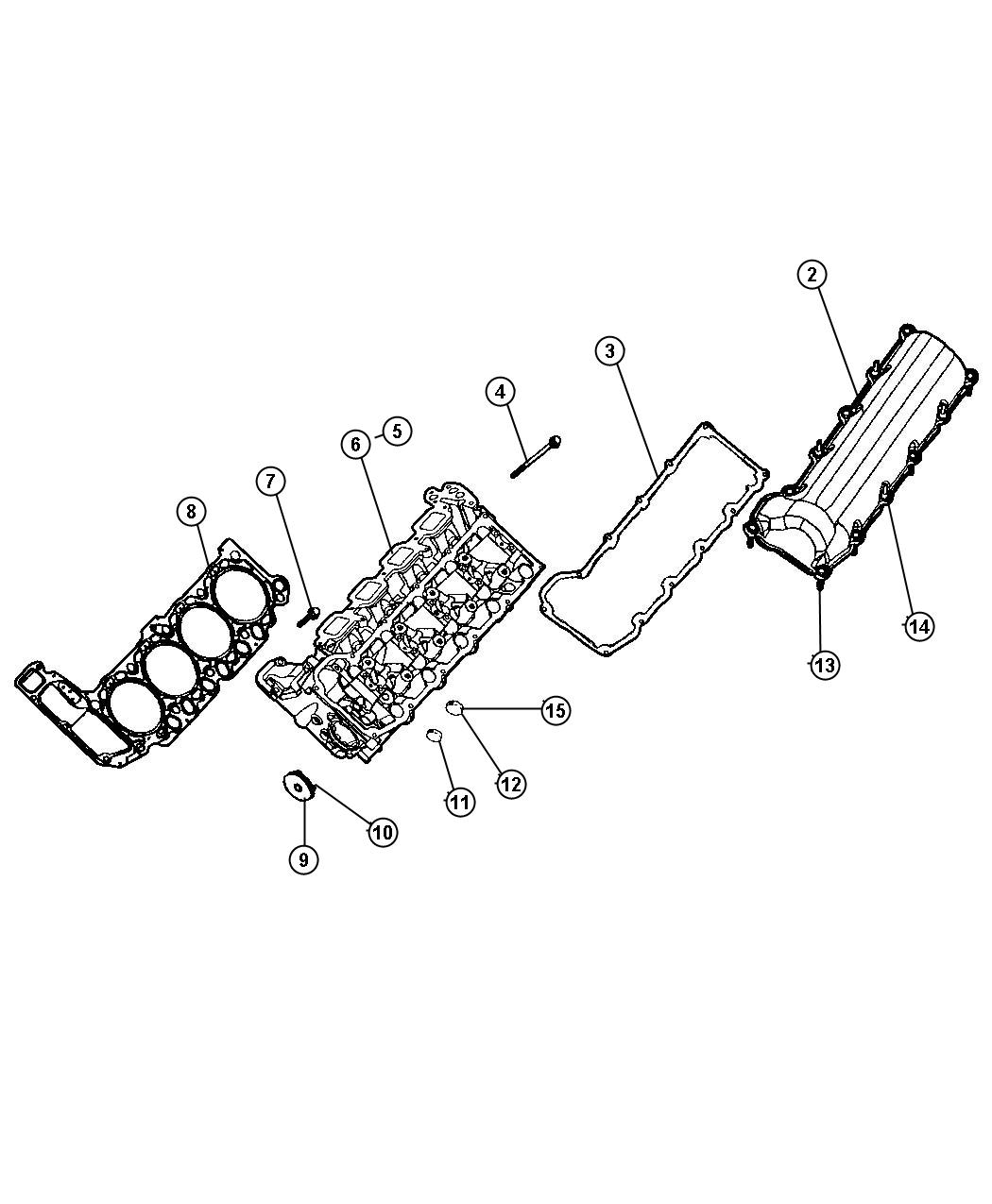 Cylinder Head, 4.7L, [4.7L V8 MPI Engine],[4.7L V8 FFV Engine]. Diagram