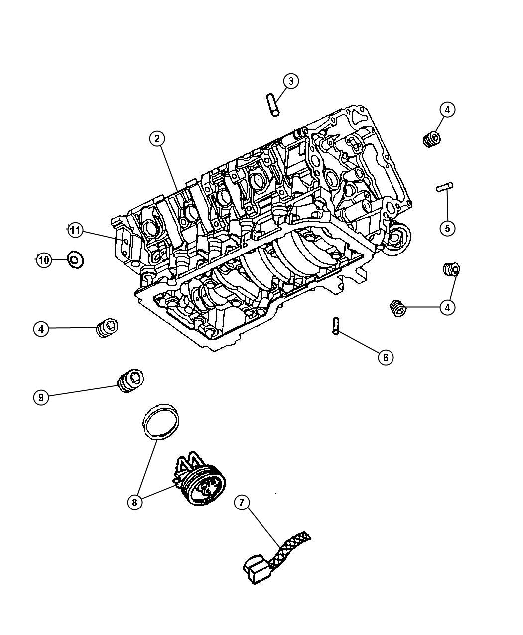 2016 Jeep Wrangler Engine Block Heater For 3 7l V6 And 4