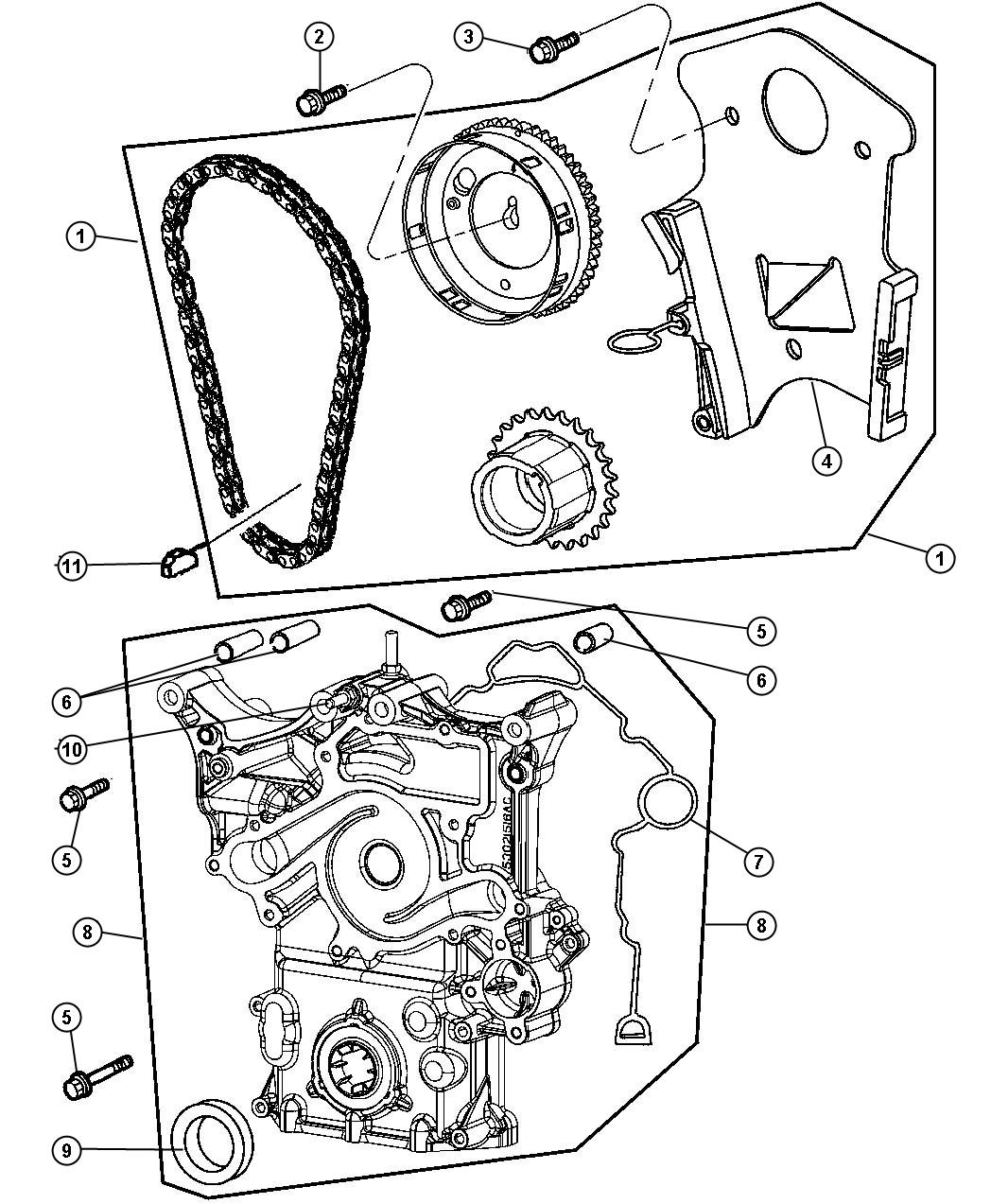 Jeep Commander Timing Chain And Related Parts 5 7l  5 7l